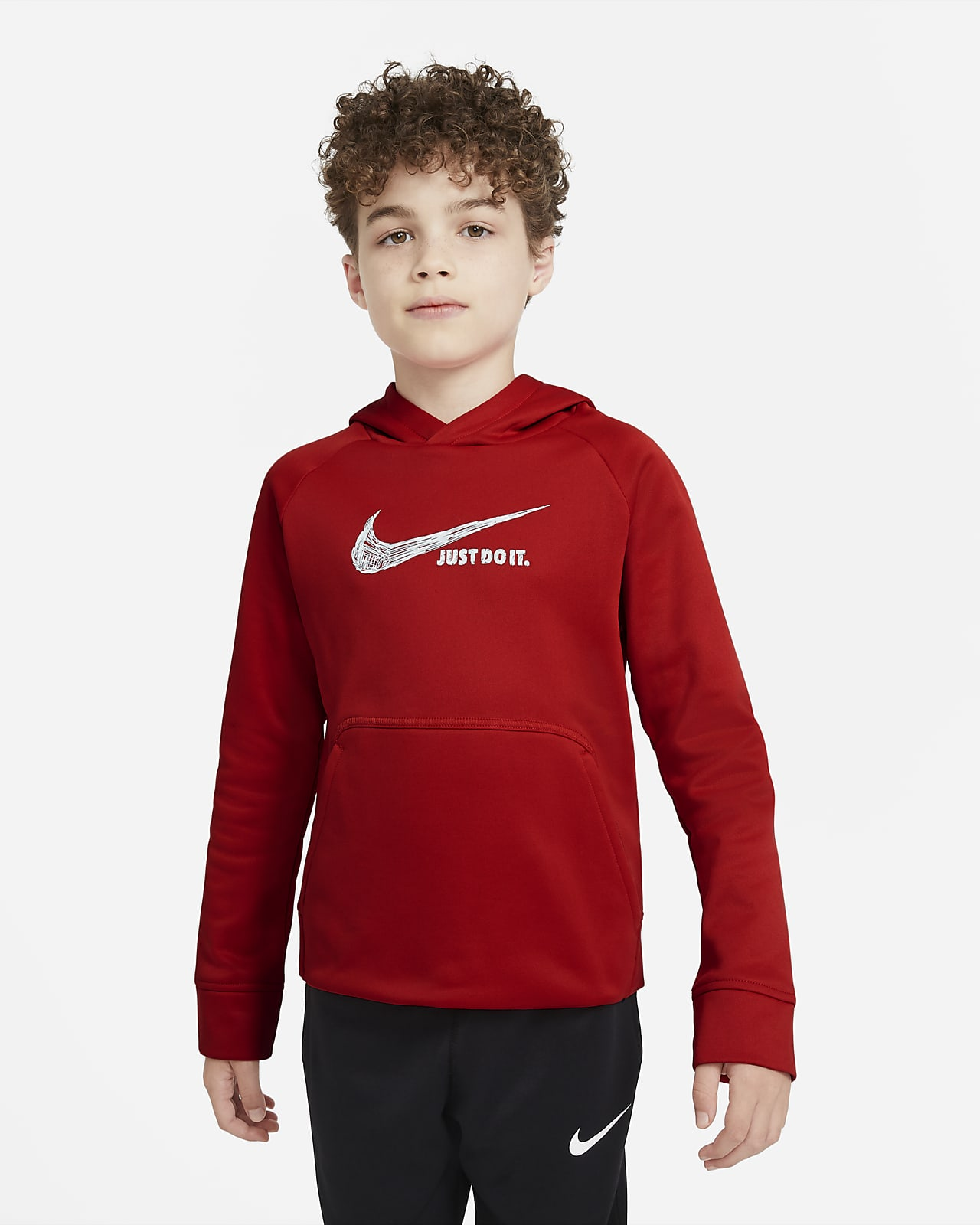 Nike Therma Big Kids' (Boys') Graphic Pullover Hoodie