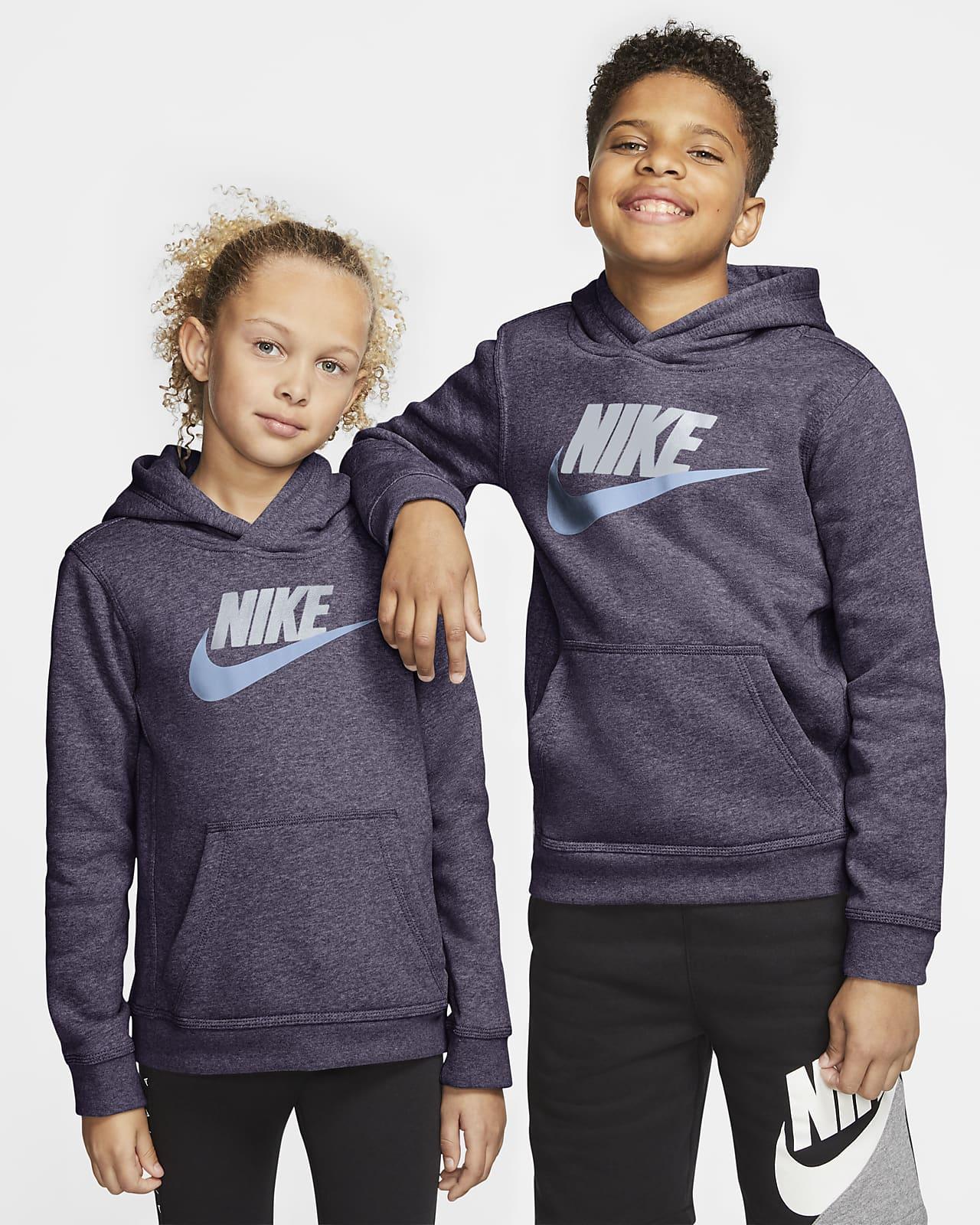 Sudadera con capucha sin cierre para niños talla grande Nike Sportswear Club Fleece