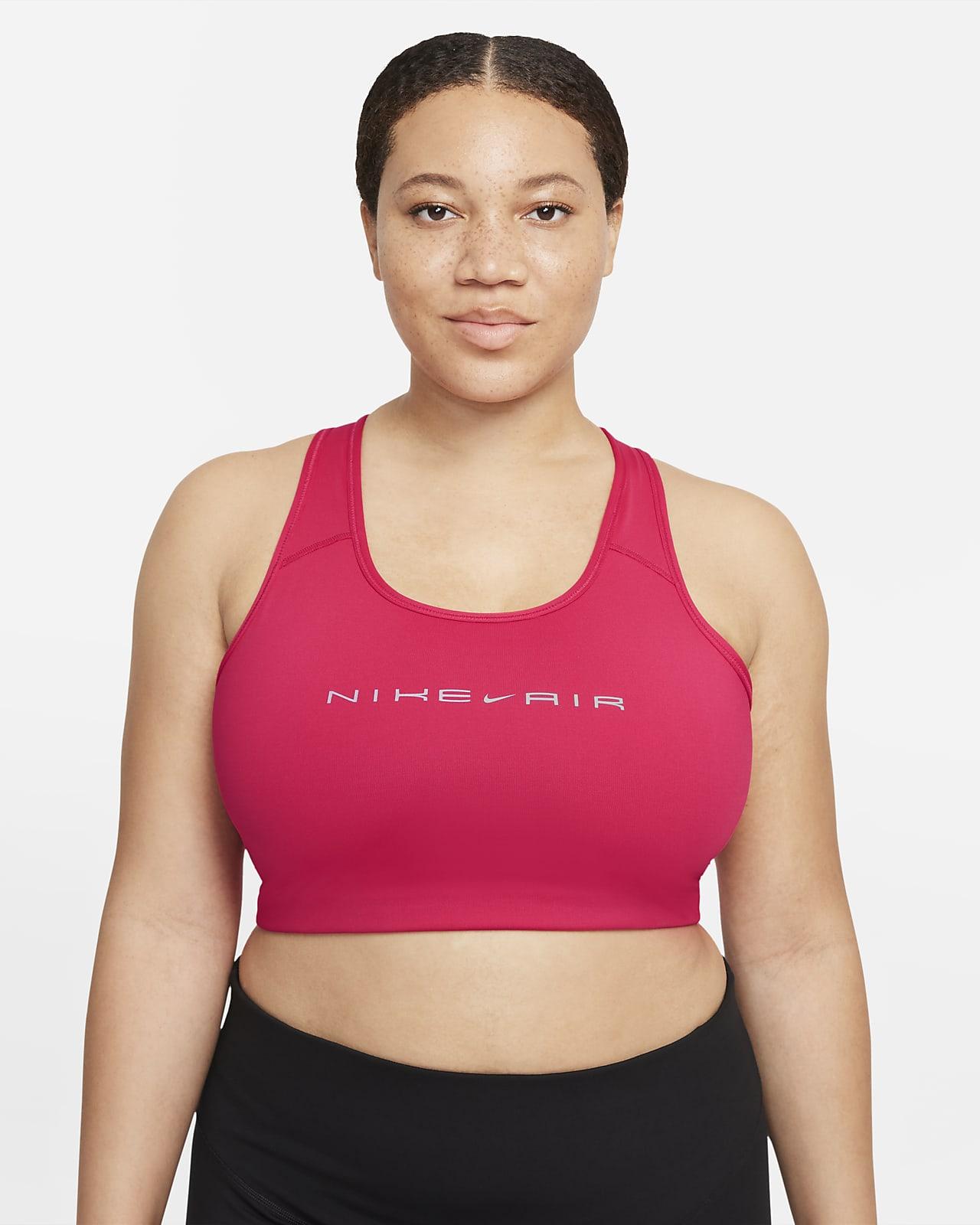 Nike Air Dri-FIT Swoosh Women's Medium-Support Non-Padded Graphic Sports Bra (Plus Size)