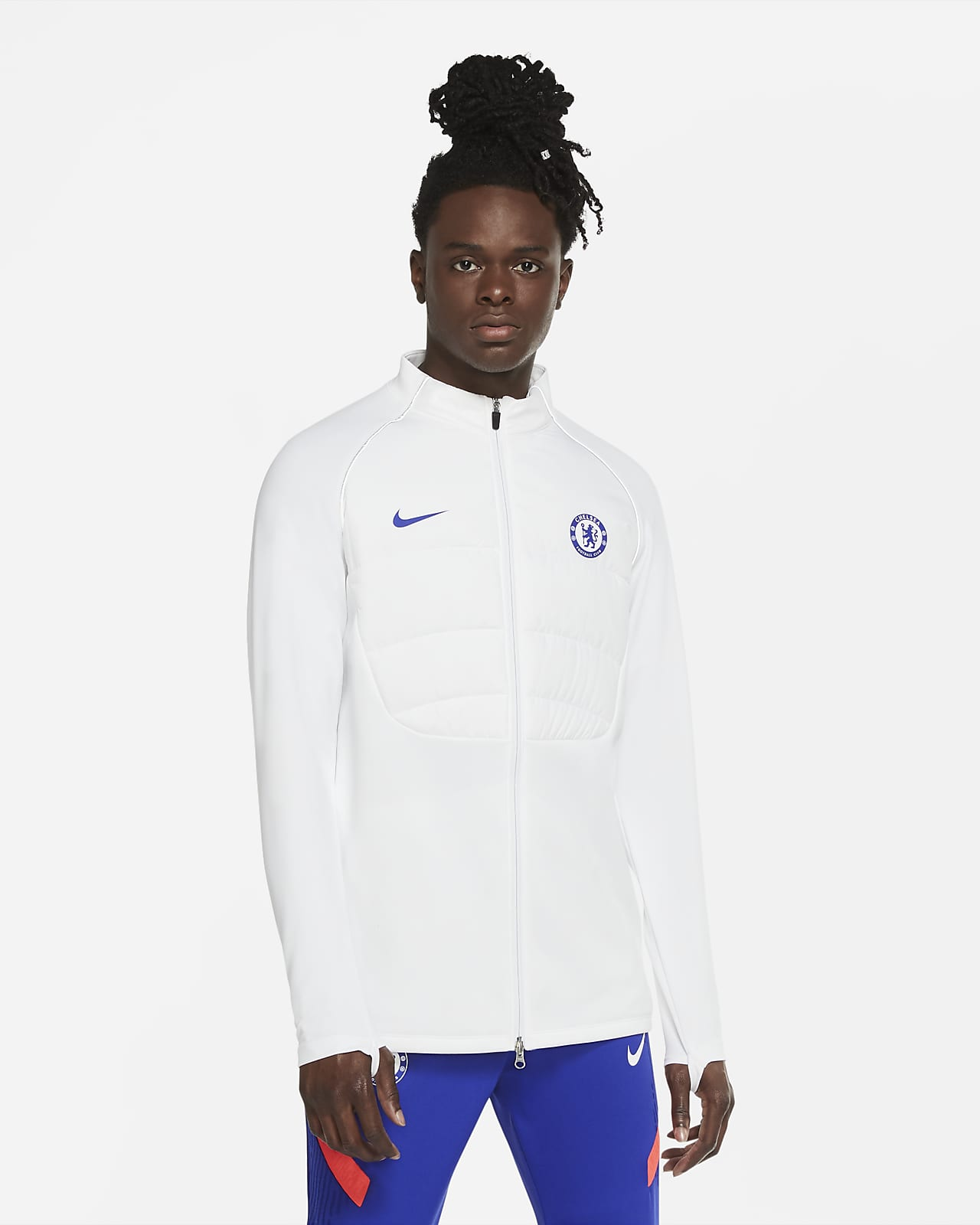 Chelsea F.C. Strike Winter Warrior Men's Padded Football Drill Jacket
