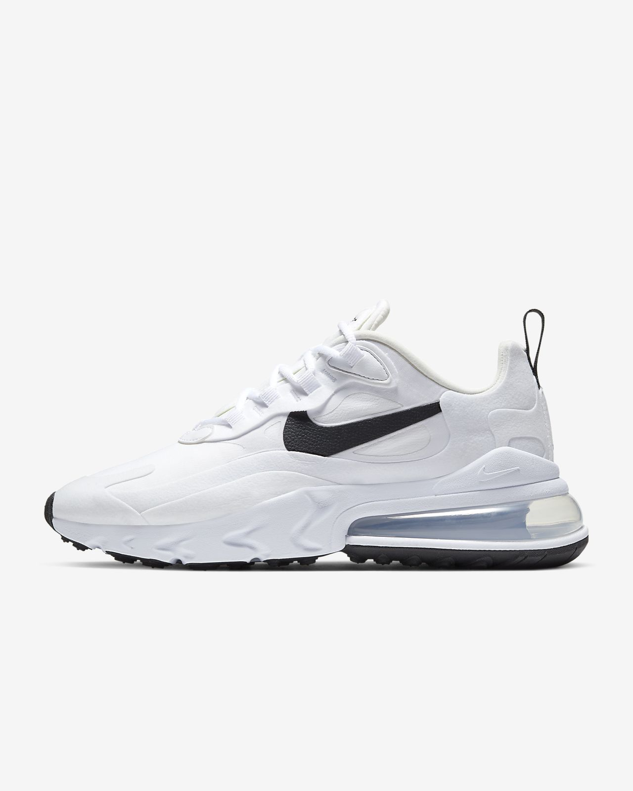 air max 270 react white and black