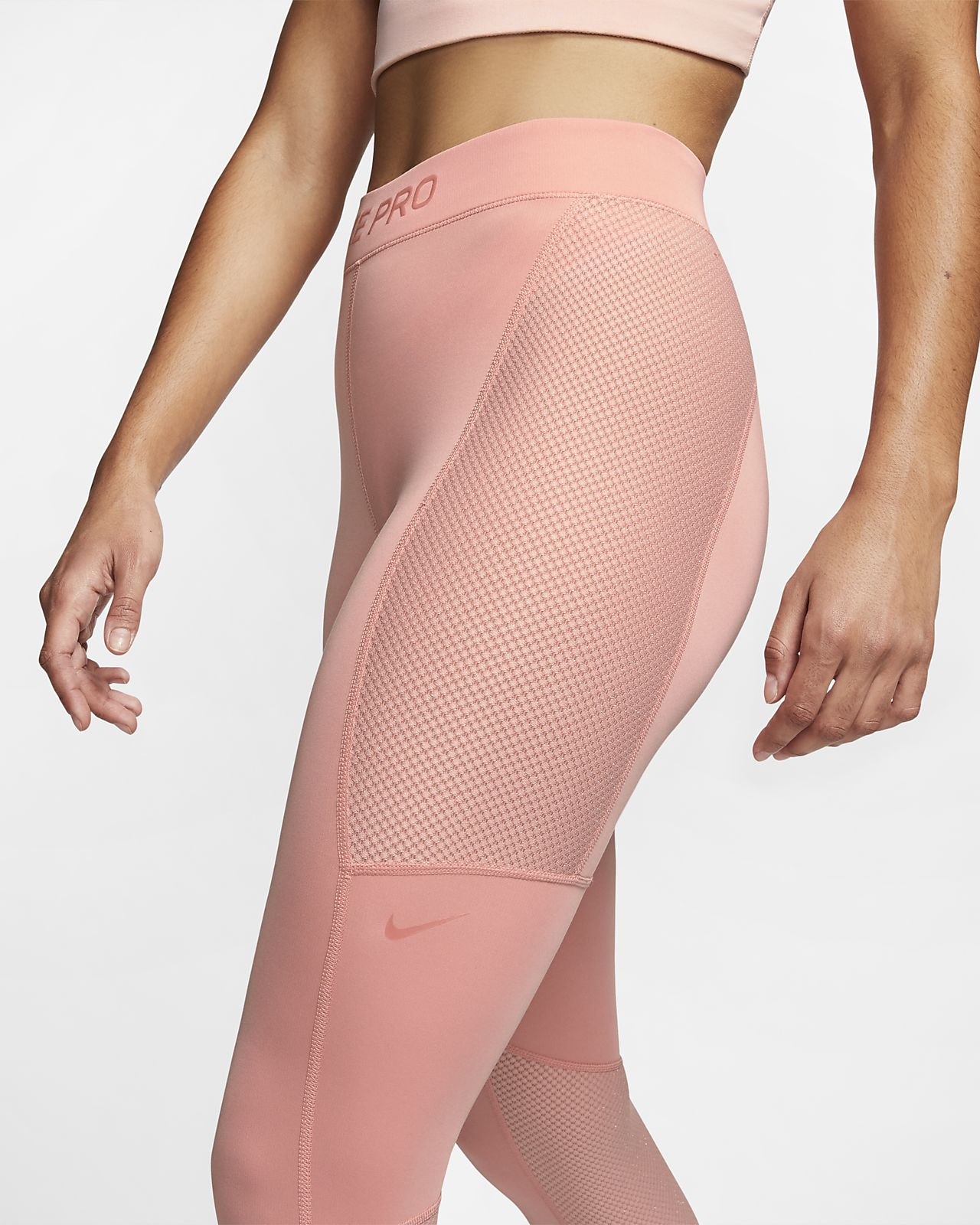 nike pink quartz leggings