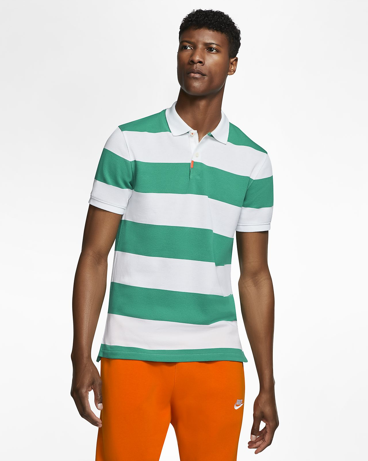 Polo à rayures coupe slim The Nike Polo mixte