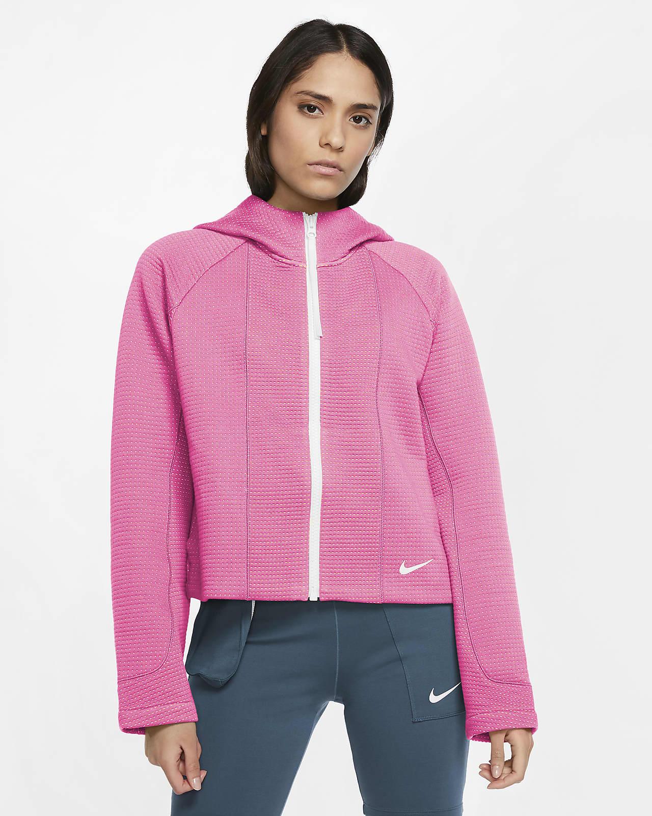 Specialdesignad huvtröja med dragkedja i fullängd Nike Sportswear Tech Fleece för kvinnor