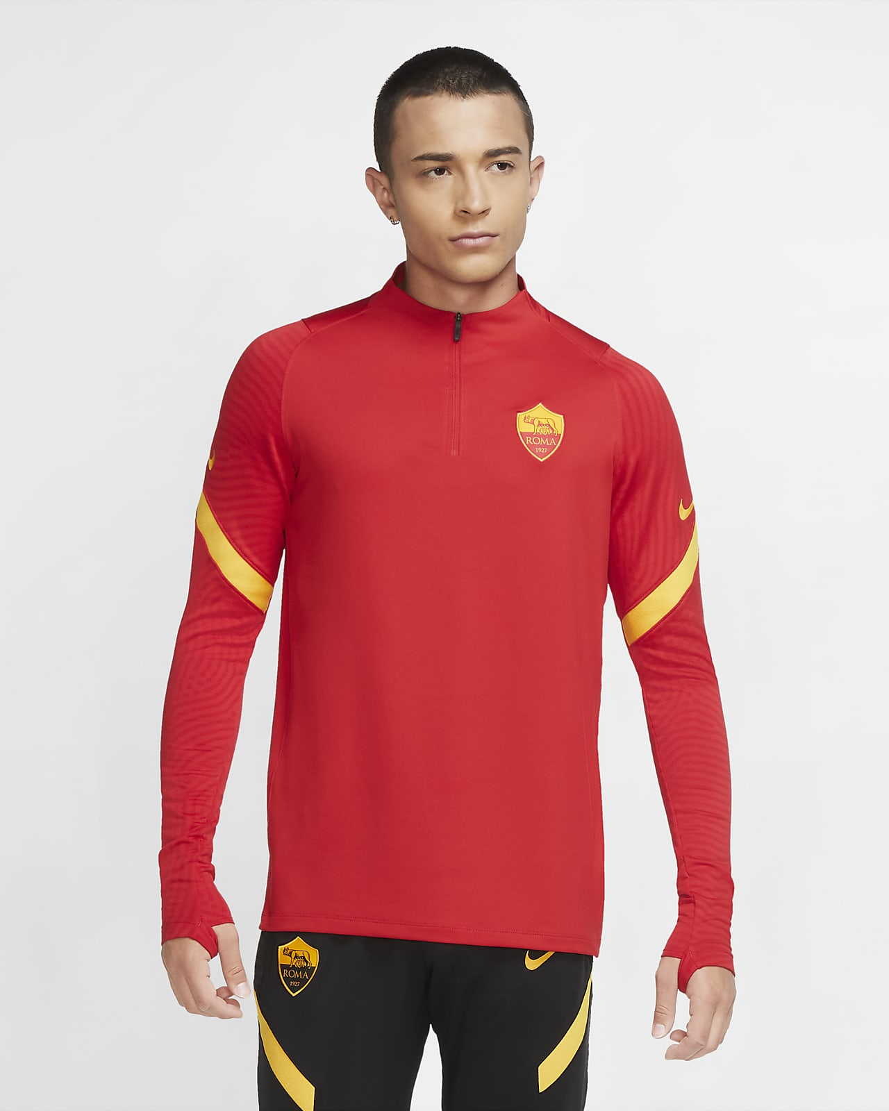 Haut d'entraînement de football à 1/4 de zip A.S. Roma Strike pour Homme