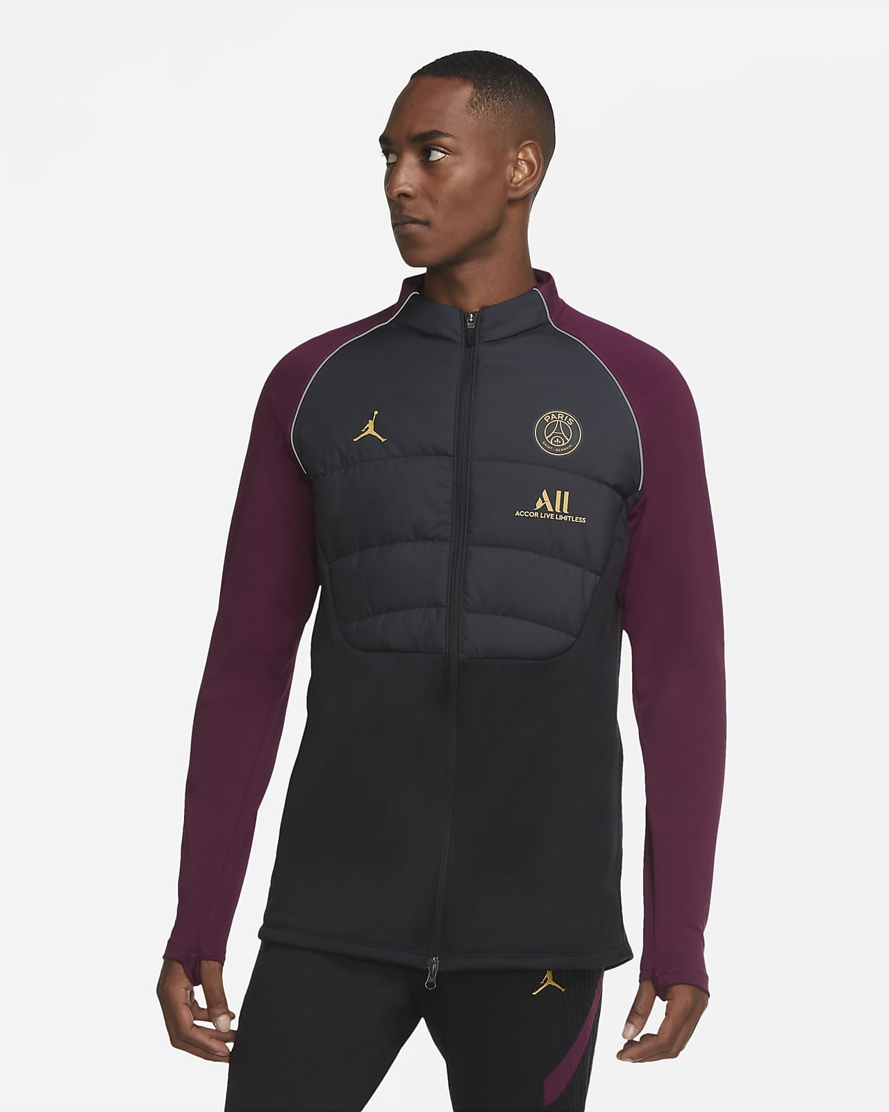 Paris Saint-Germain Strike Men's Synthetic-Fill Football Drill Jacket