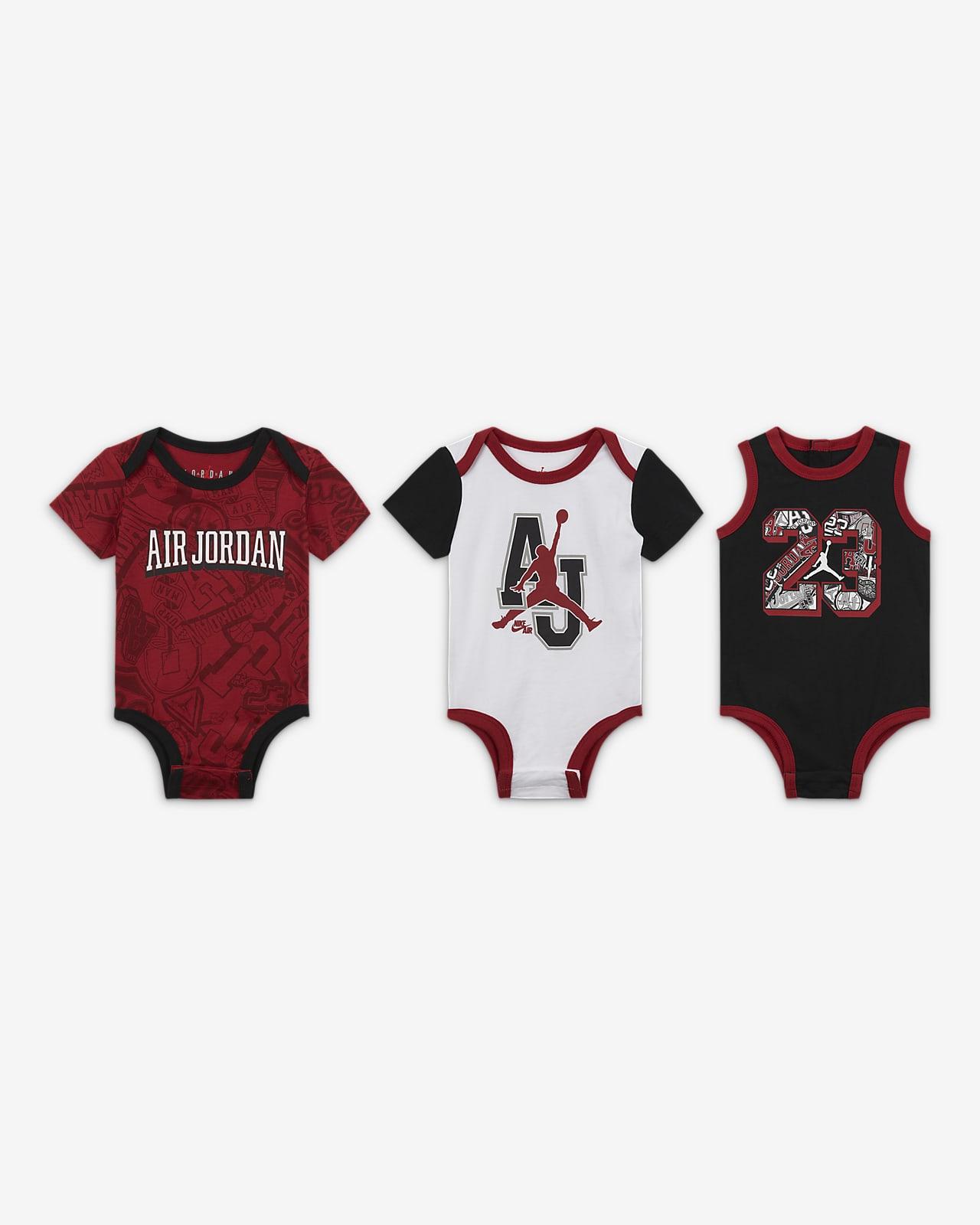 Jordan Baby (0-9M) Bodysuit Set (3-Pack)