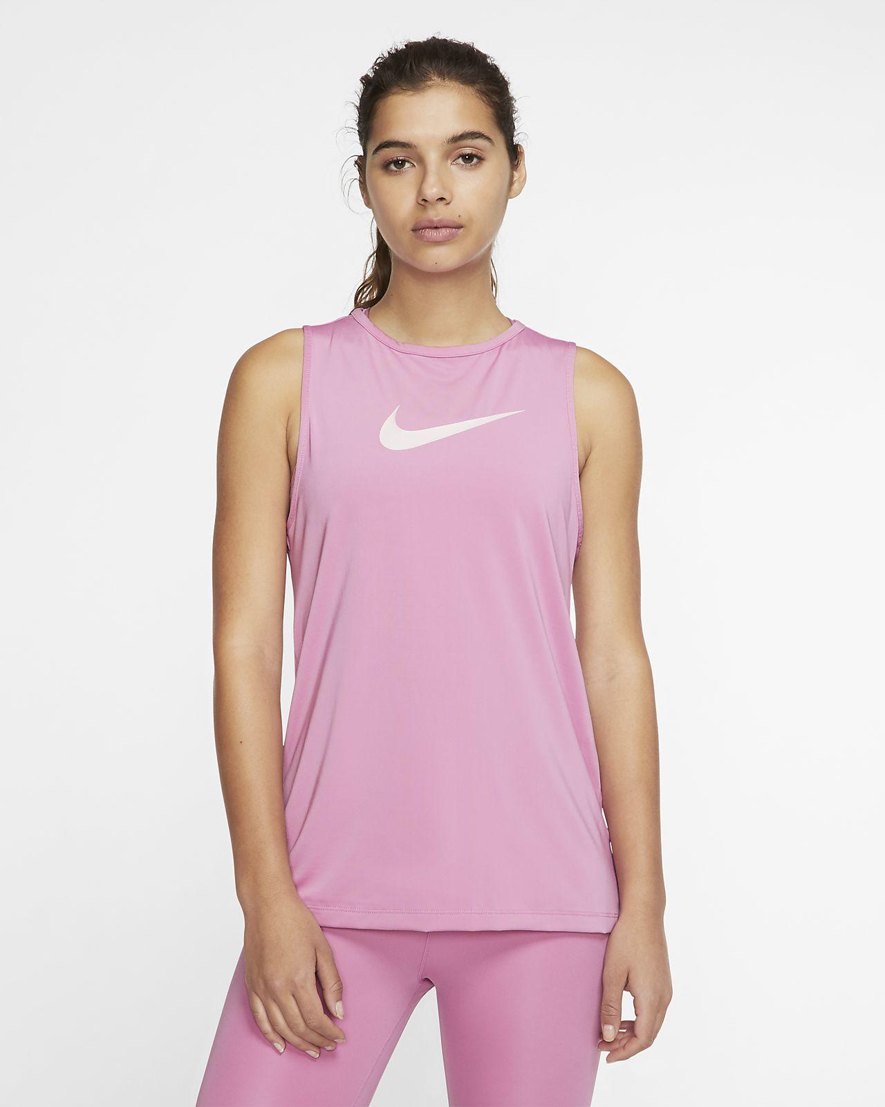 Damska koszulka bez rękawów z logo Swoosh Nike Pro