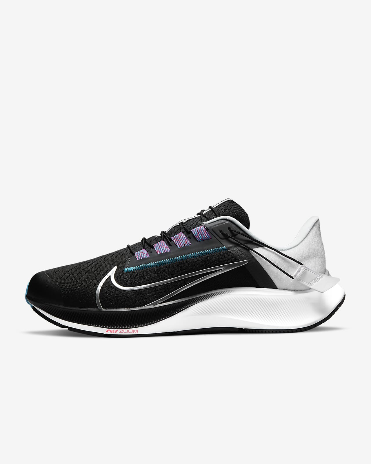 Nike Air Zoom Pegasus 38 FlyEase Men's Easy On/Off Road Running Shoes (Extra Wide)