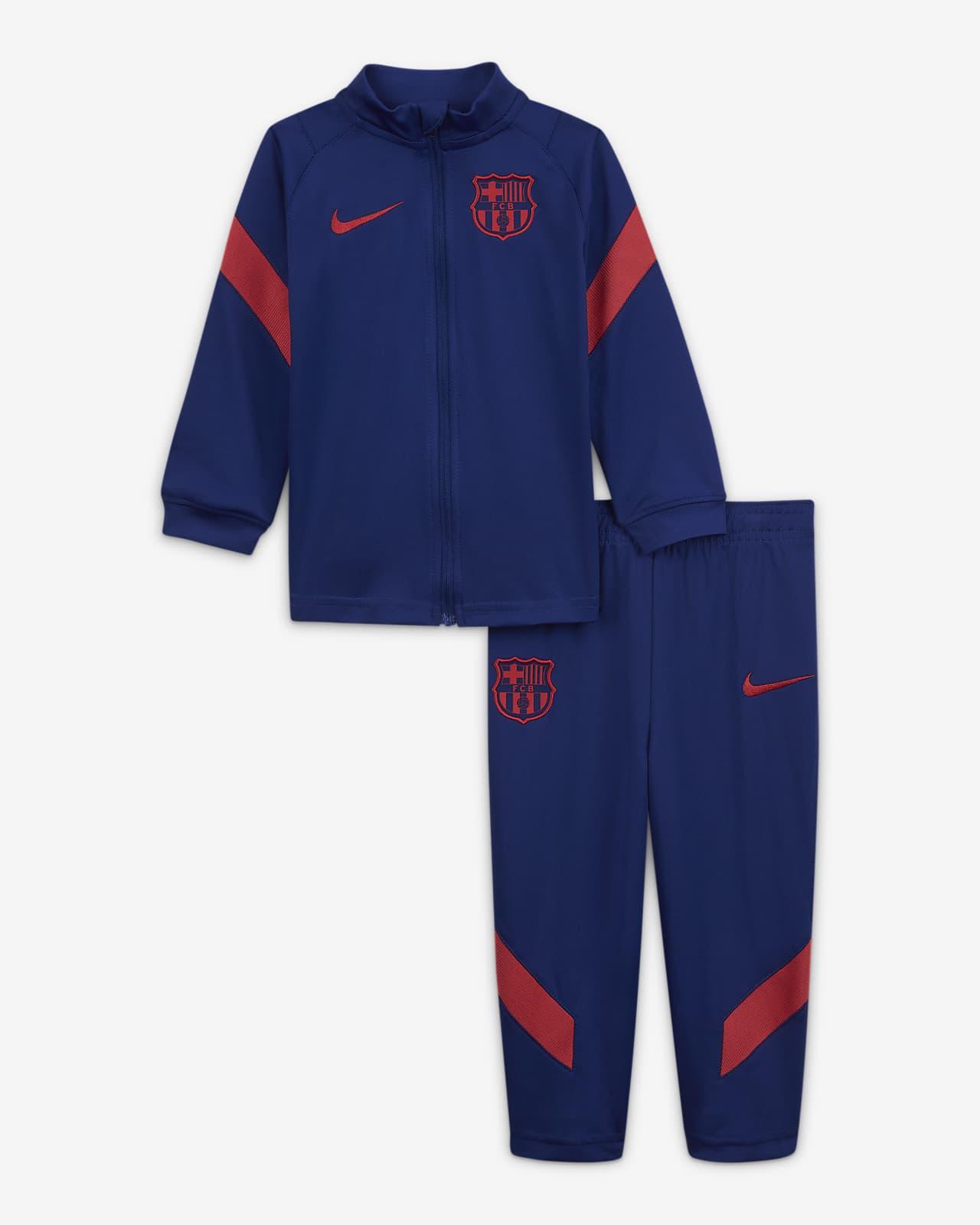 Pletená fotbalová souprava FC Barcelona Strike pro kojence