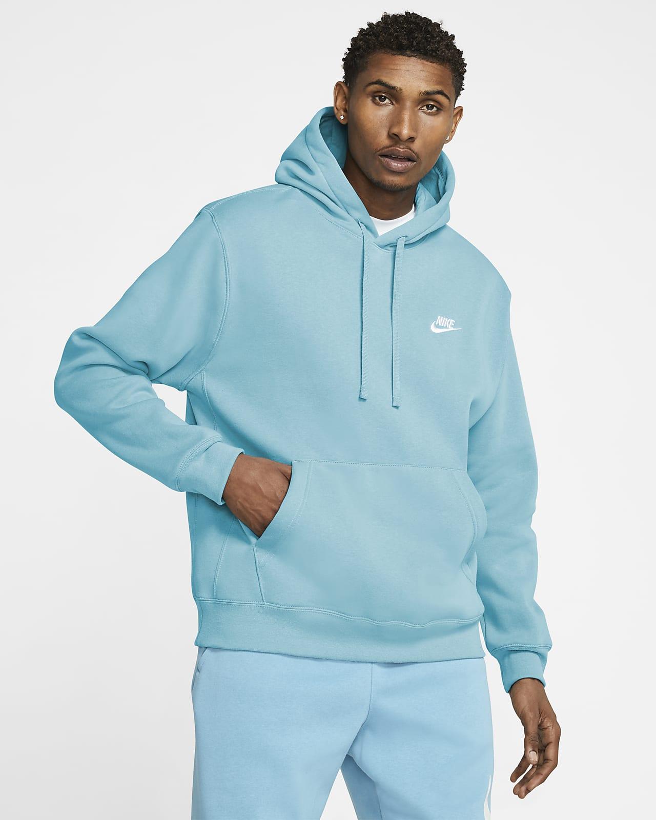 เสื้อมีฮู้ดผ้าฟลีซแบบสวม Nike Sportswear Club