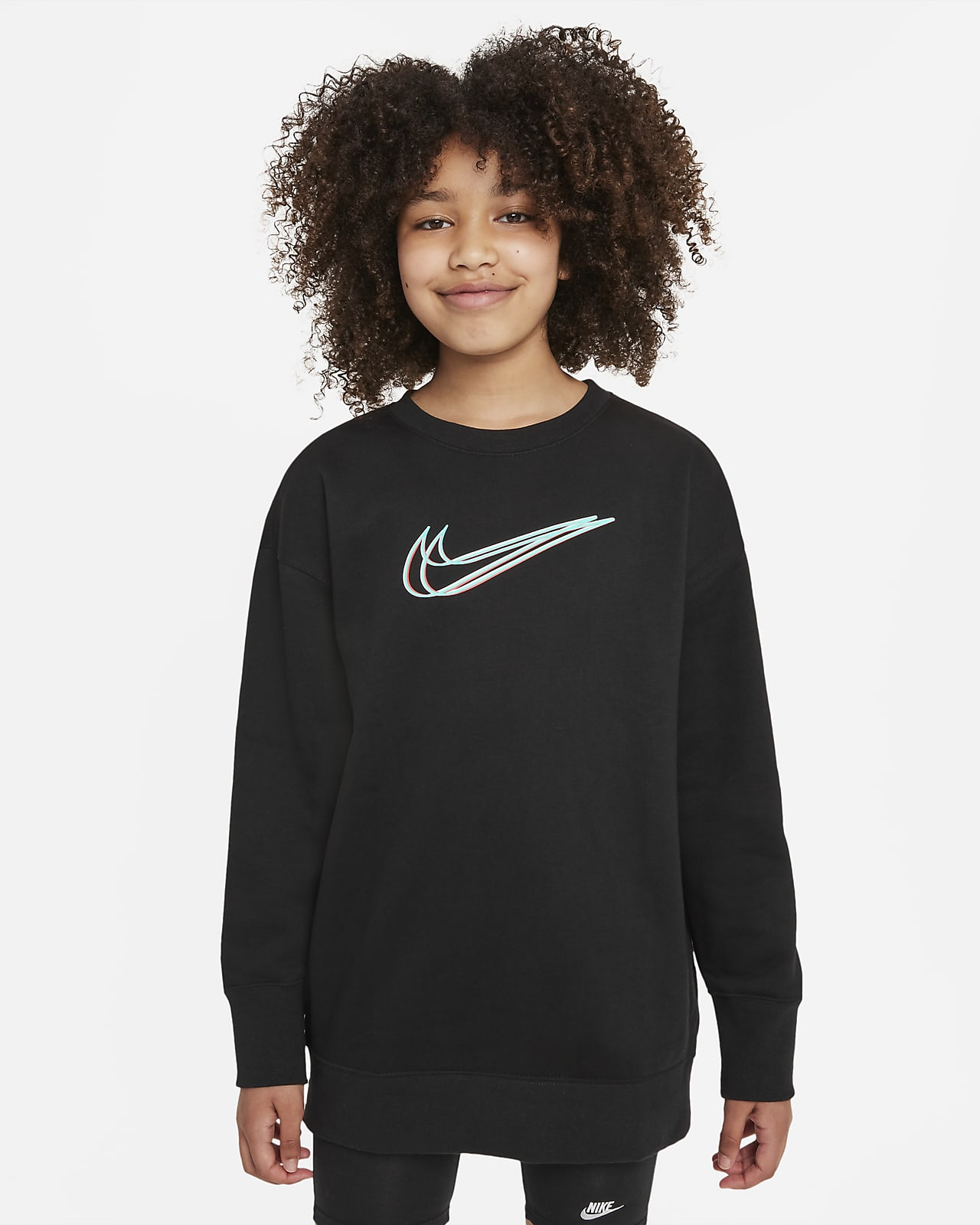 Sudadera de baile para niñas talla grande Nike Sportswear