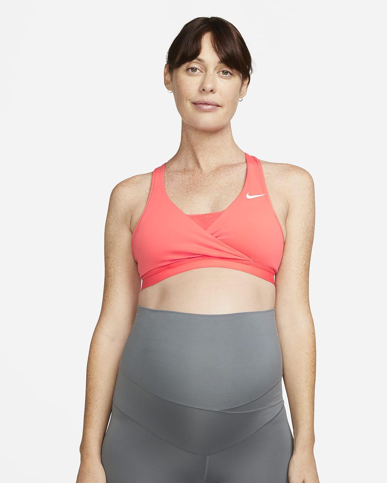 Bra deportivo con almohadillas de media sujeción para mujer Nike (M) Swoosh (maternidad)