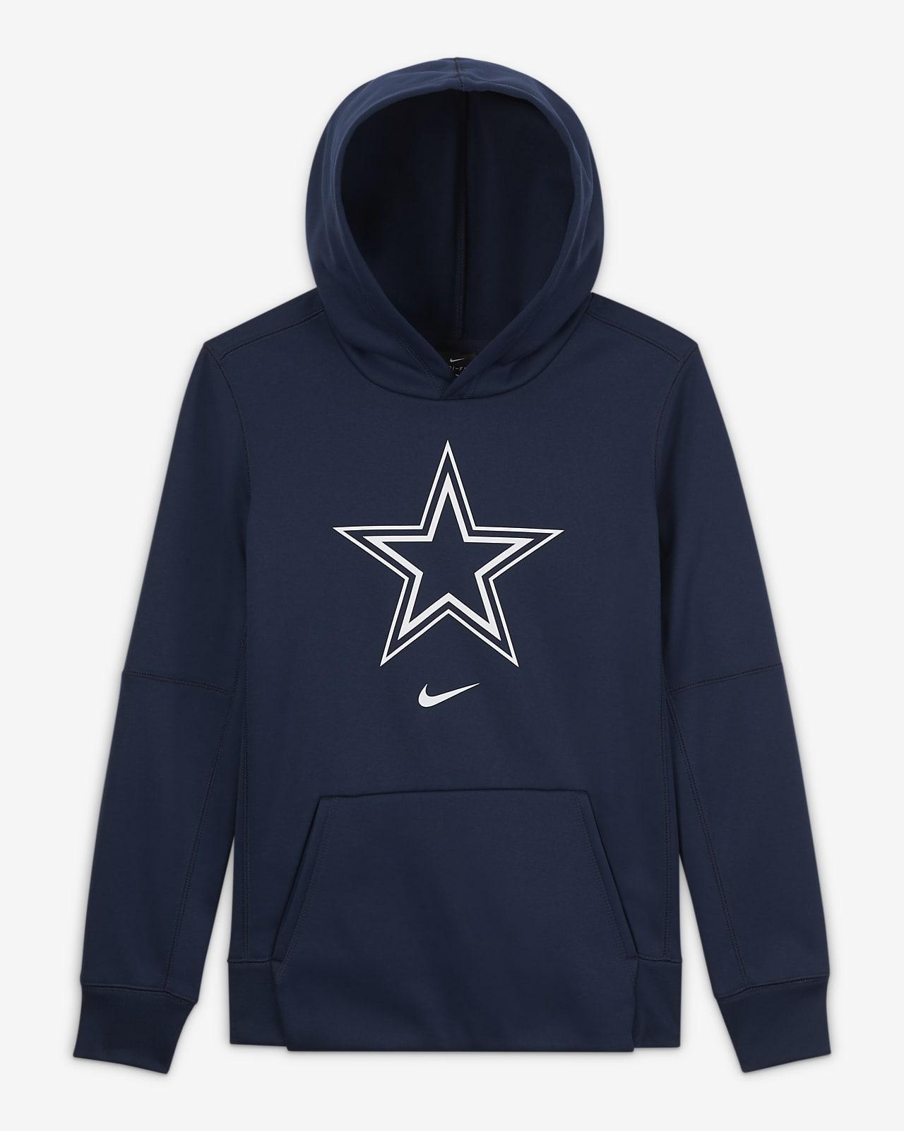 Sweat à capuche avec logo Nike Essential Dallas Cowboys pour Garçon plus âgé