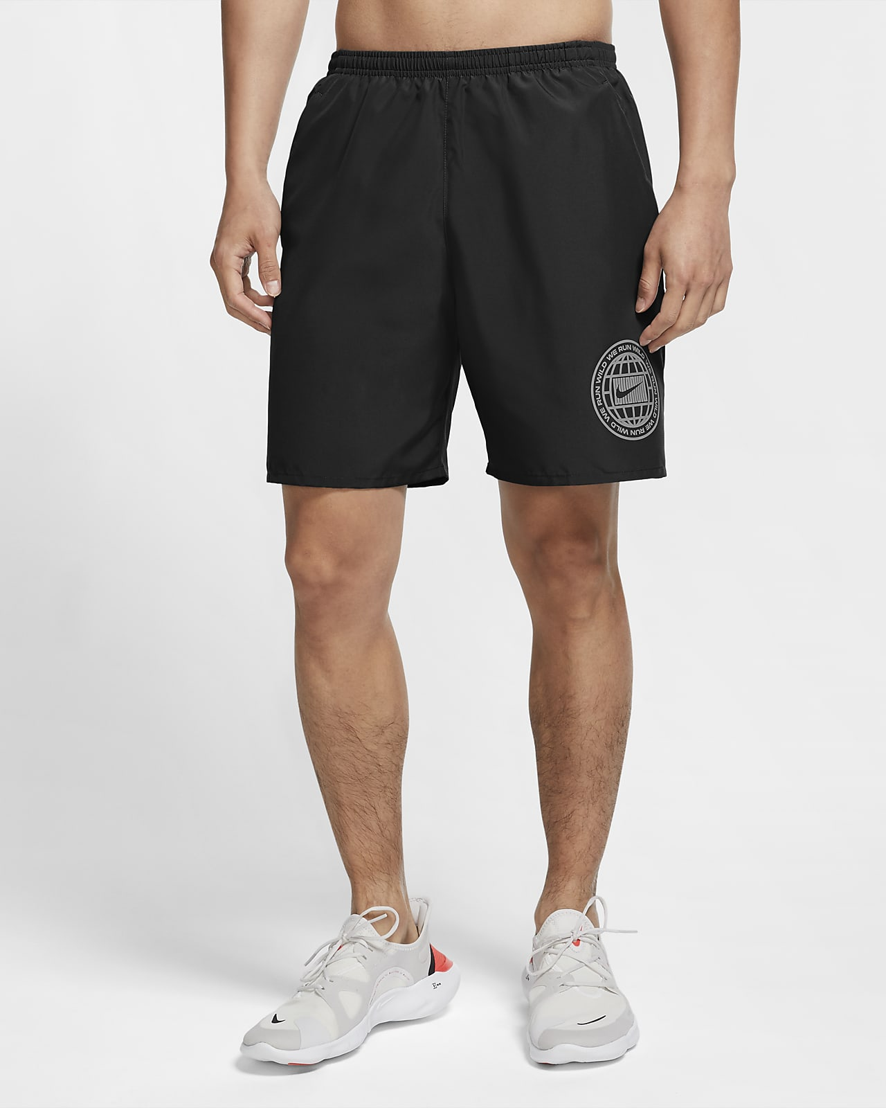 กางเกงวิ่งขาสั้นผู้ชายมีกราฟิก Nike Dri-FIT Wild Run