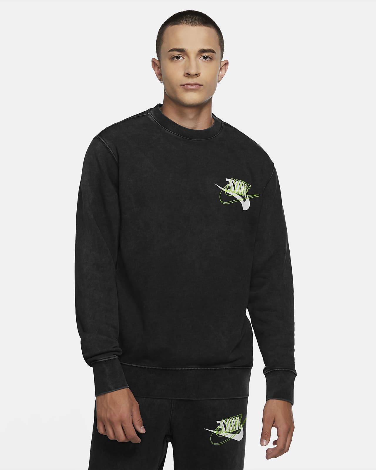 Nike Sportswear Herenshirt van sweatstof met ronde hals