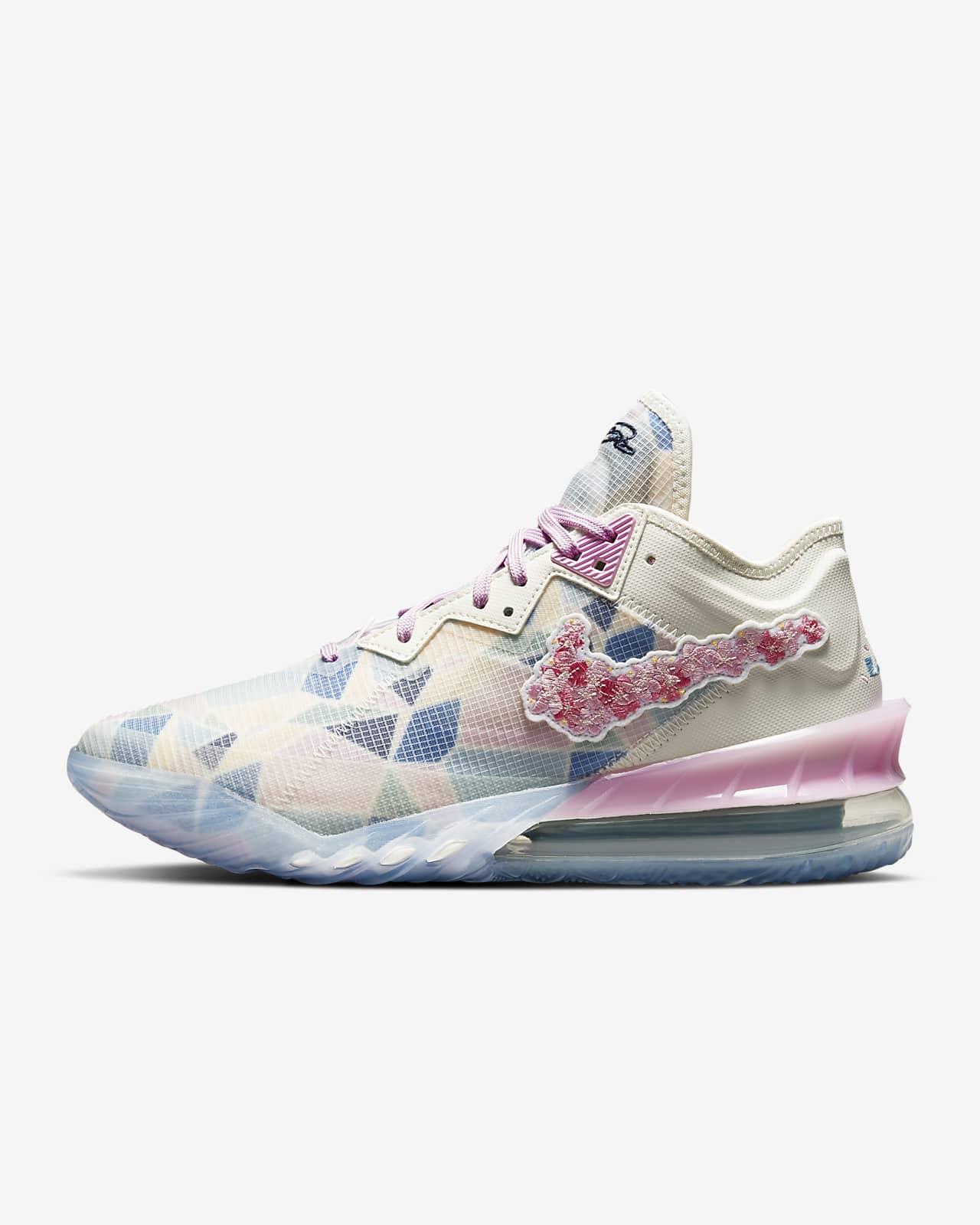 """รองเท้าบาสเก็ตบอล LeBron 18 Low x Atmos """"Cherry Blossom"""""""