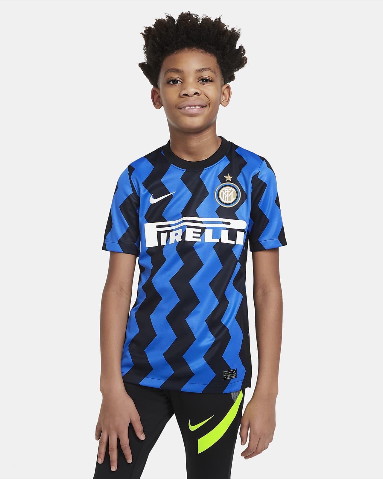 Koszulka piłkarska dla dużych dzieci Inter Mediolan Stadium 2020/21 (wersja domowa)
