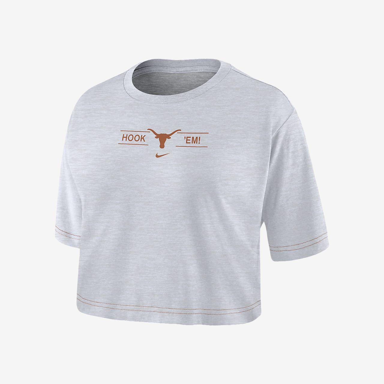 Nike College Dri-FIT (Texas) Women's Cropped T-Shirt