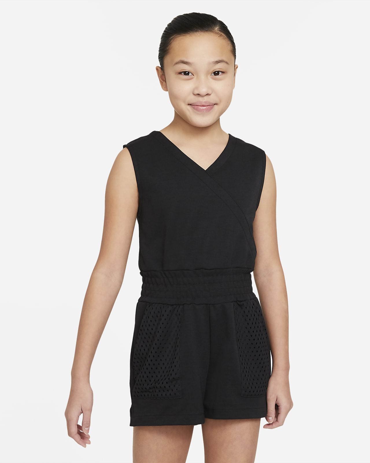 Nike Dri-FIT Older Kids' (Girls') Training Romper