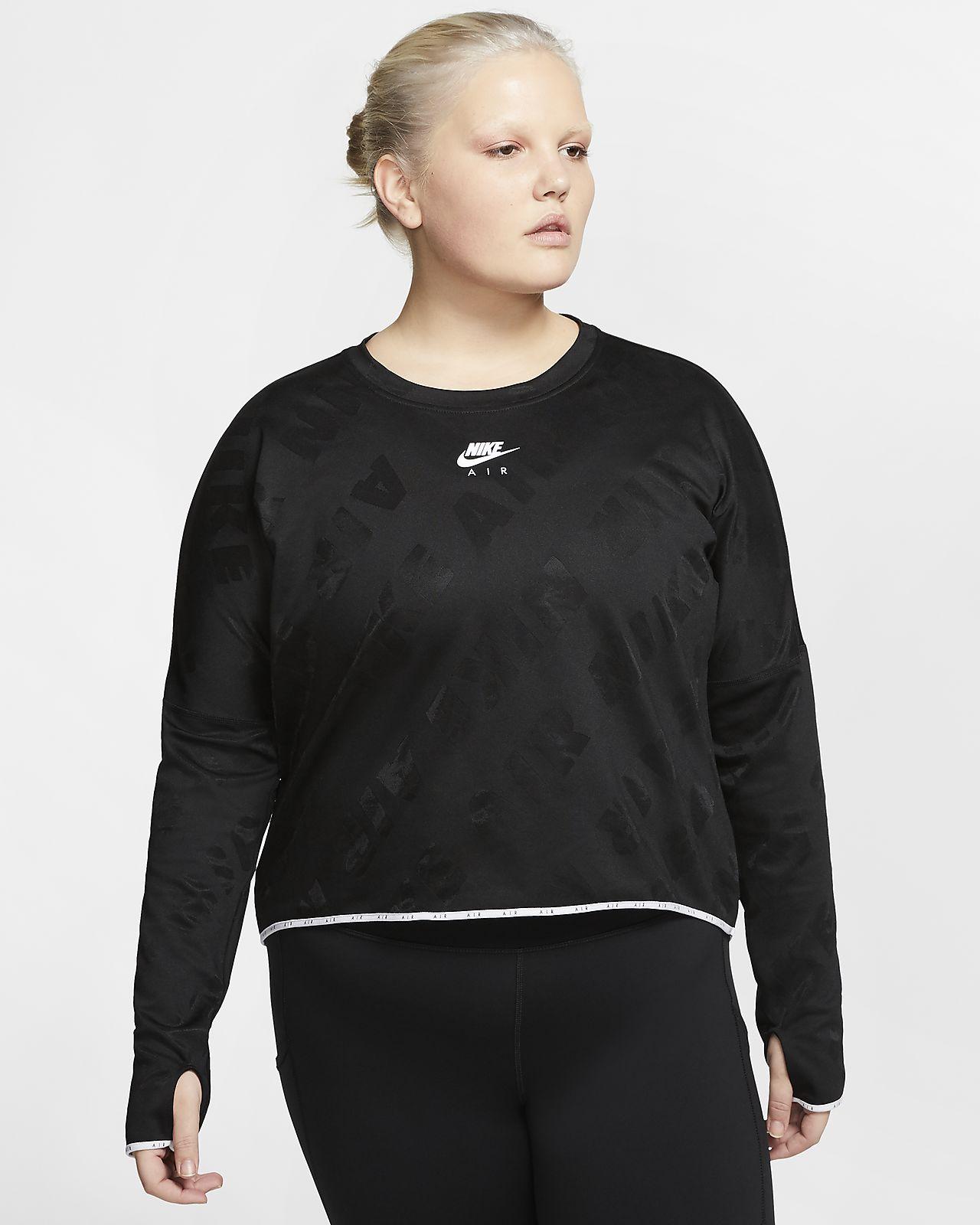 Langærmet Nike Air løbeoverdel til kvinder (Plus Size). Nike DK