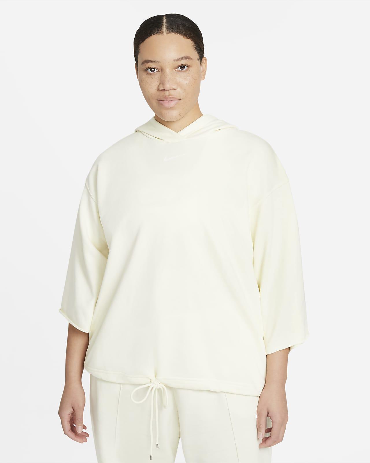 Damska bluza z kapturem i krótkim rękawem Nike Sportswear Icon Clash (duże rozmiary)