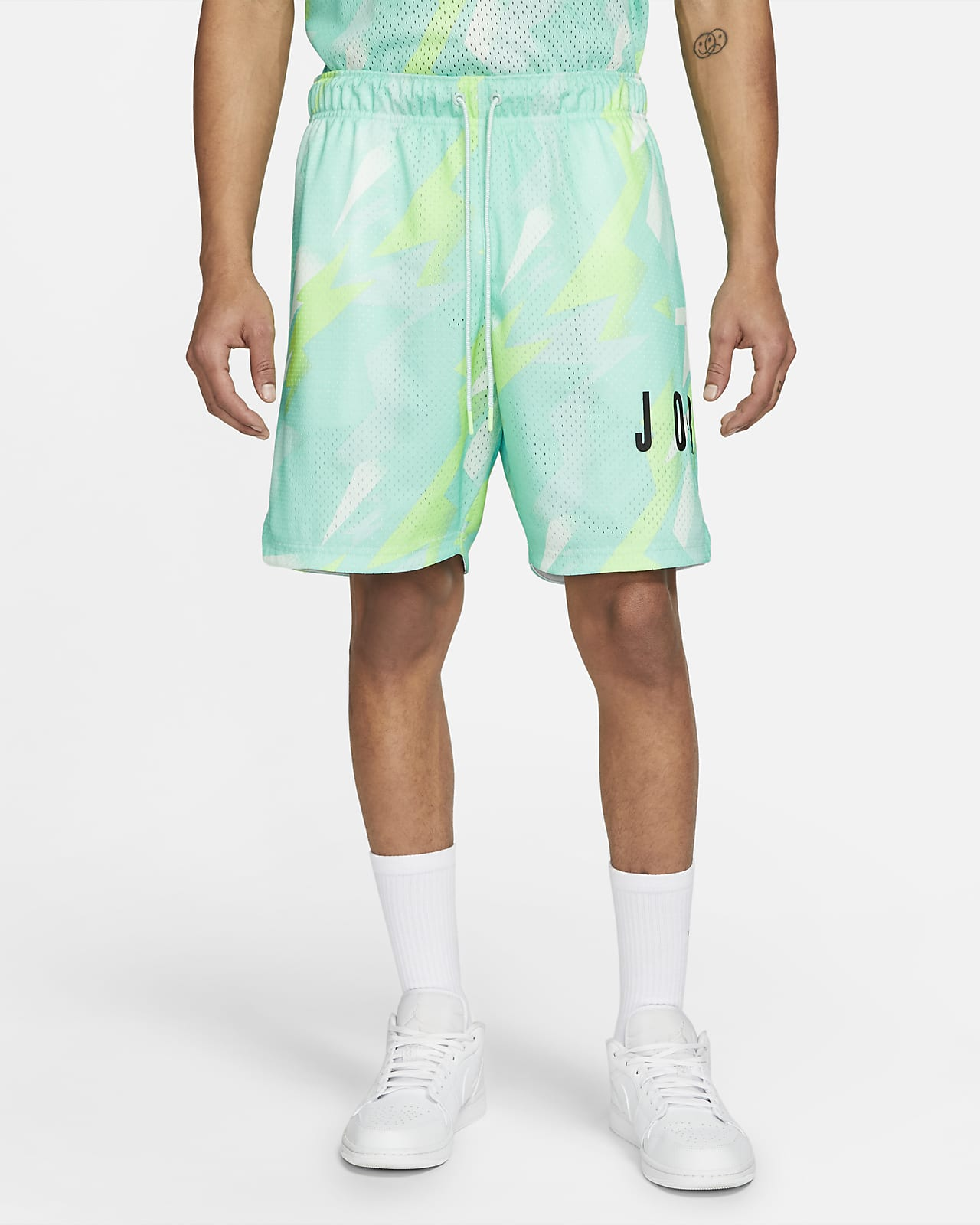 Shorts stampati in mesh Jordan Jumpman Air - Uomo