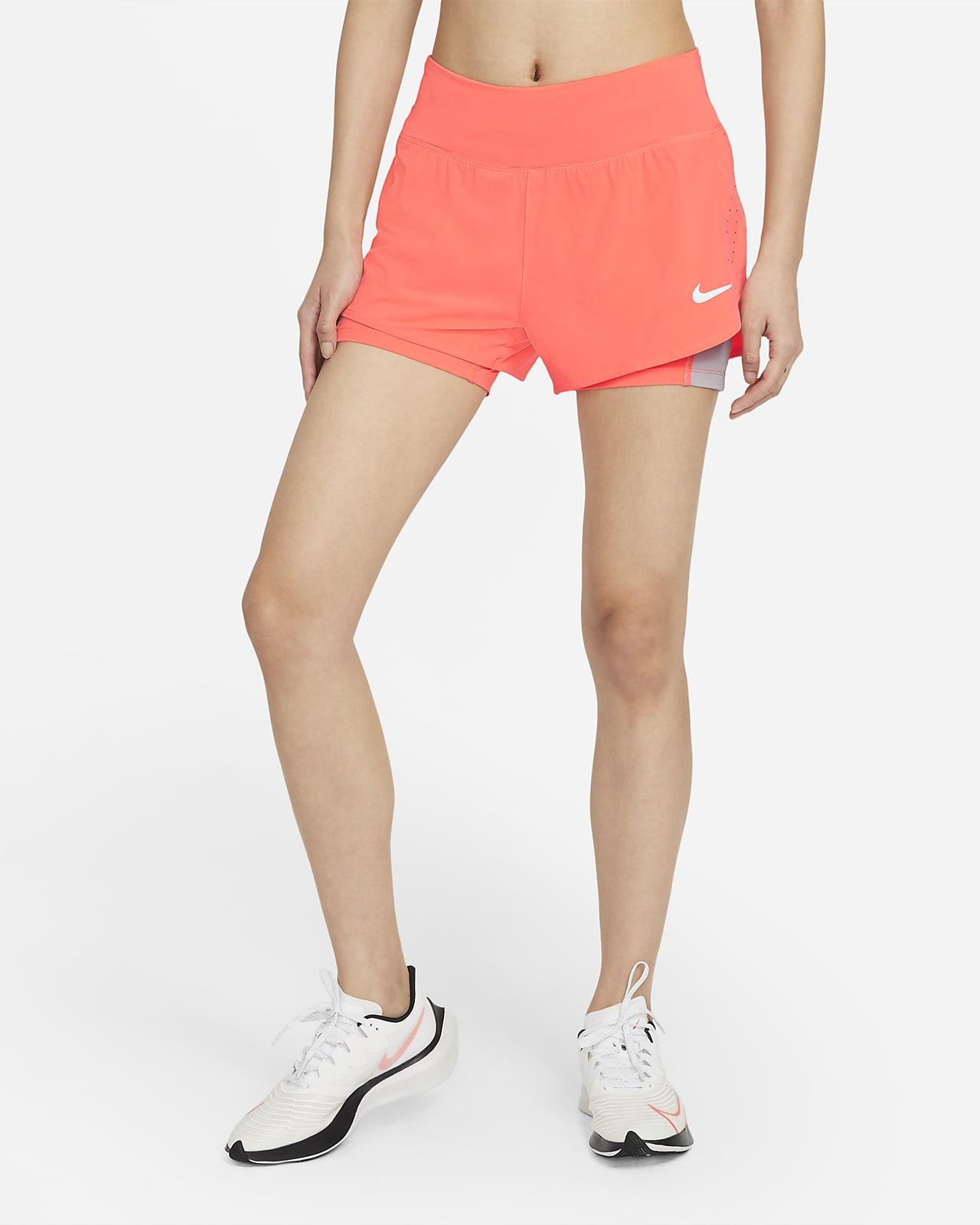 Nike Eclipse 2-i-1-løpeshorts til dame
