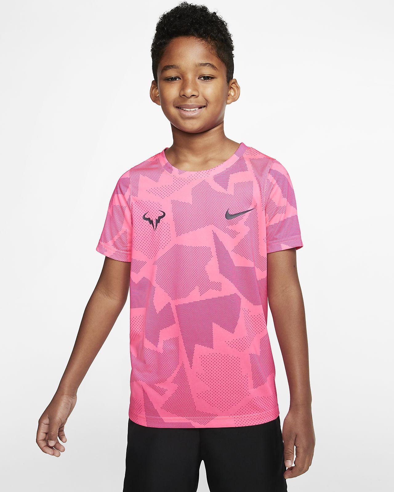 Tee shirt de tennis NikeCourt Dri FIT Rafa pour Garçon