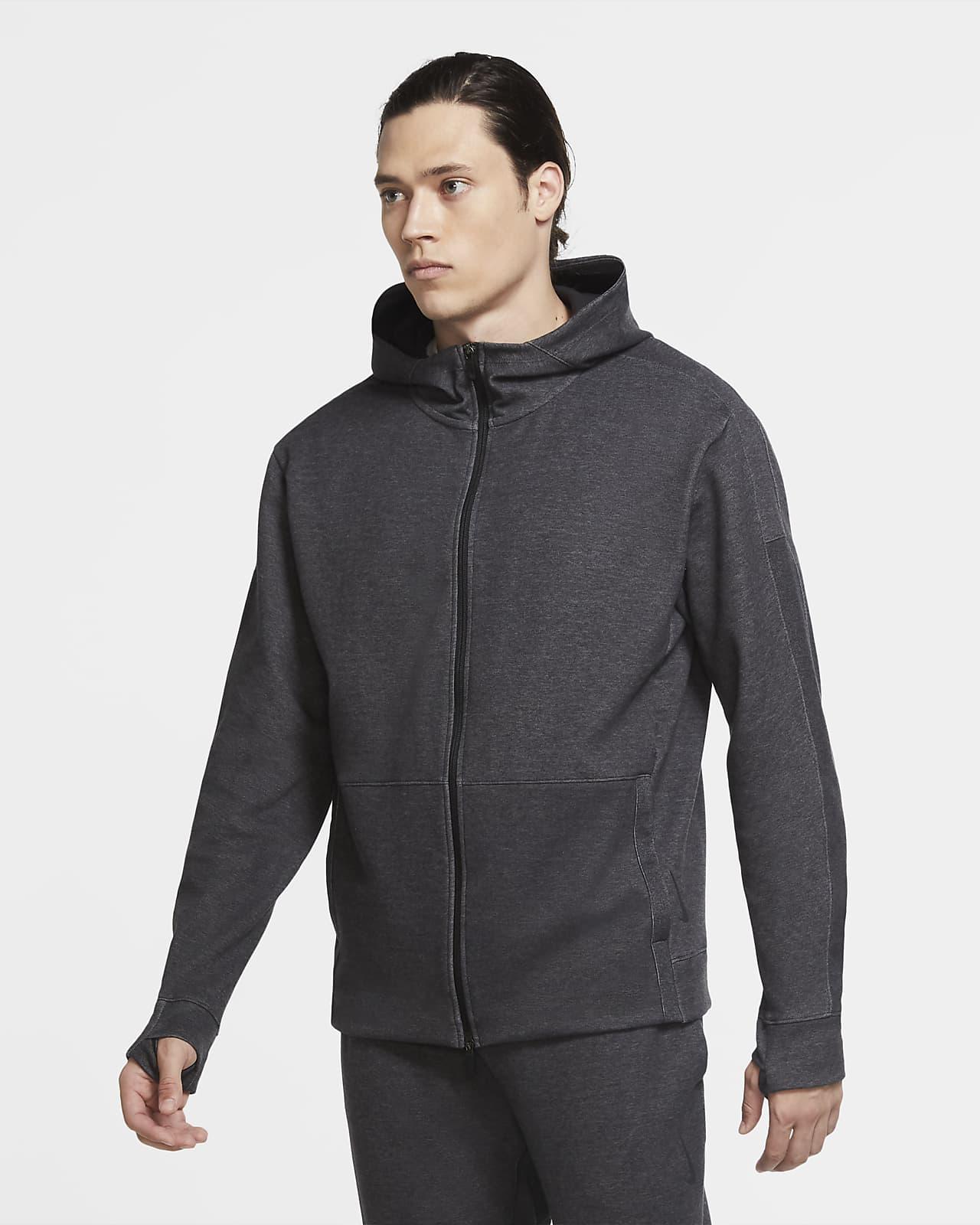 Sudadera con capucha de cierre completo para hombre Nike Yoga