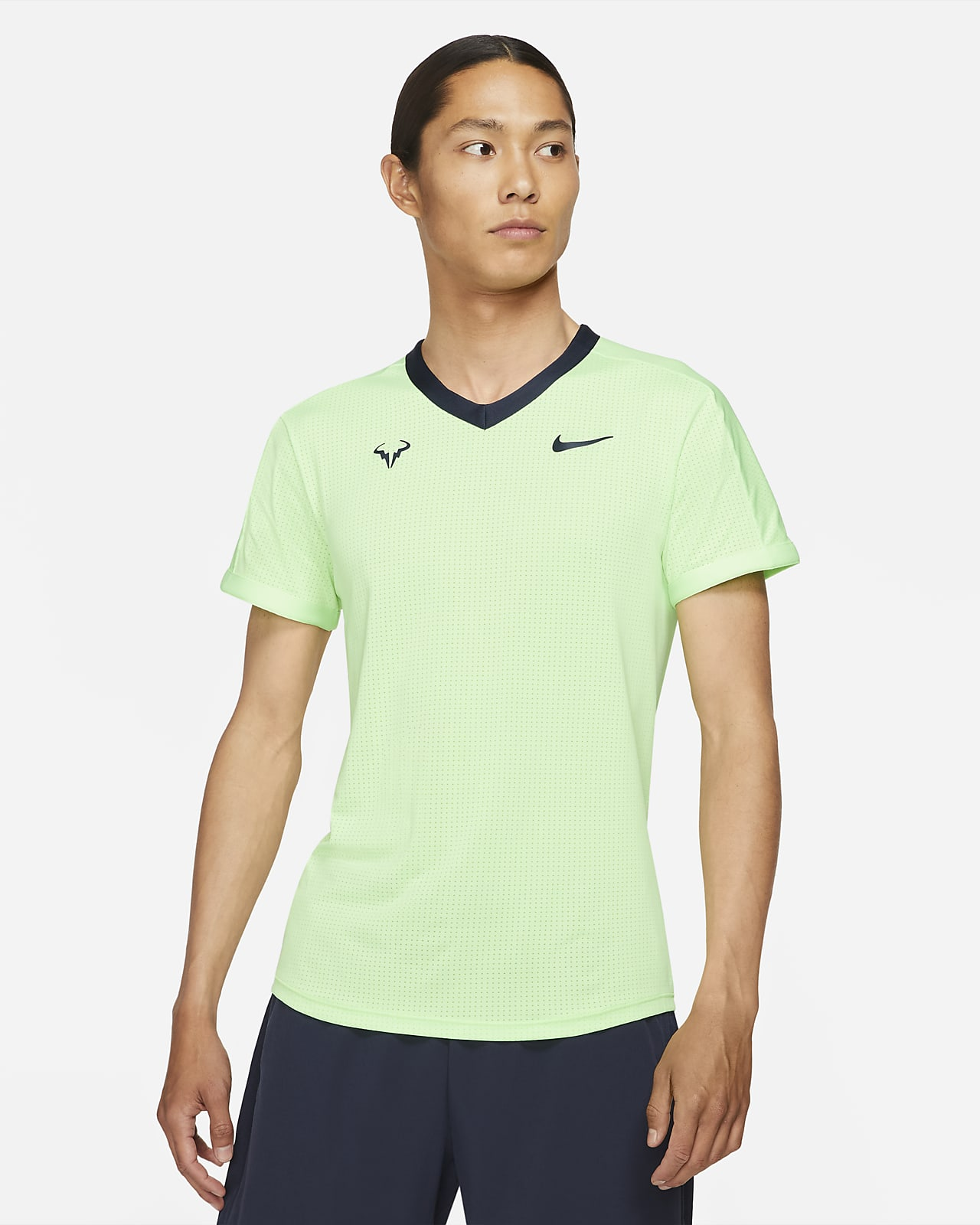 Camisola de ténis de manga curta NikeCourt Dri-FIT ADV Rafa para homem