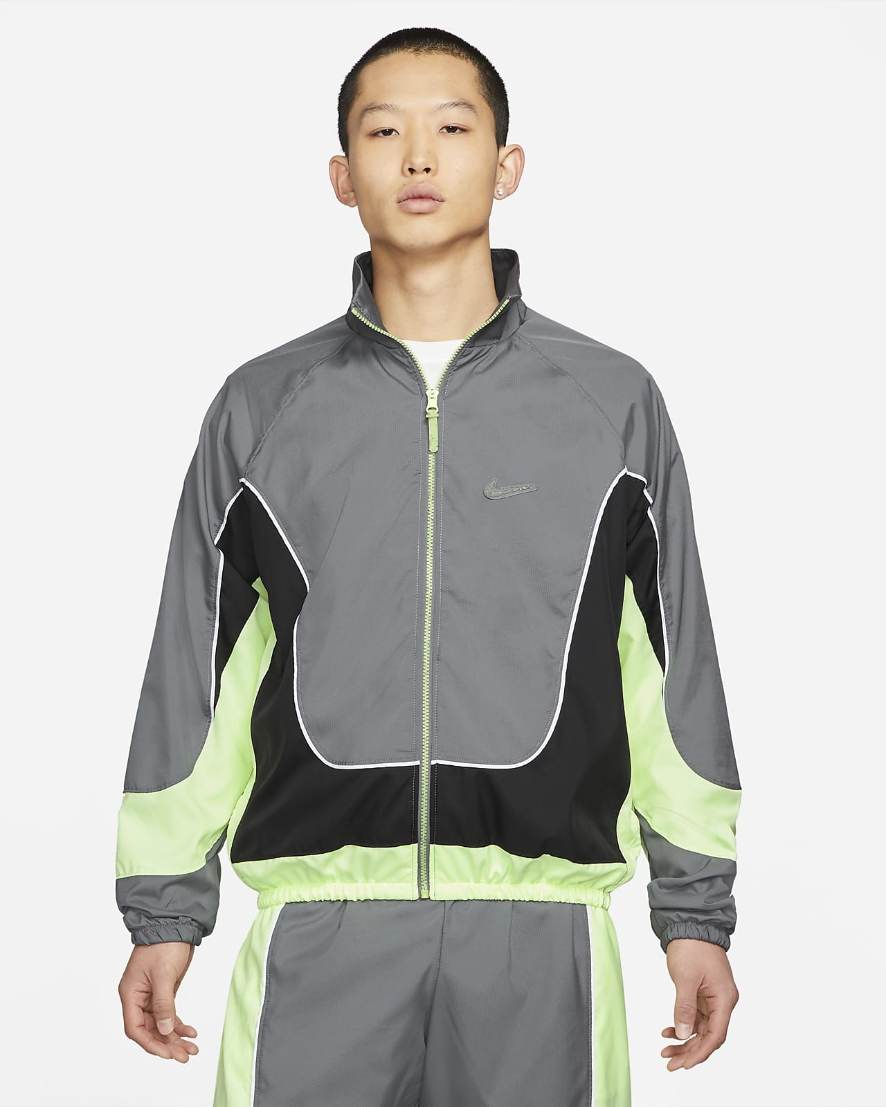 เสื้อแจ็คเก็ตบาสเก็ตบอลผู้ชาย Nike Throwback
