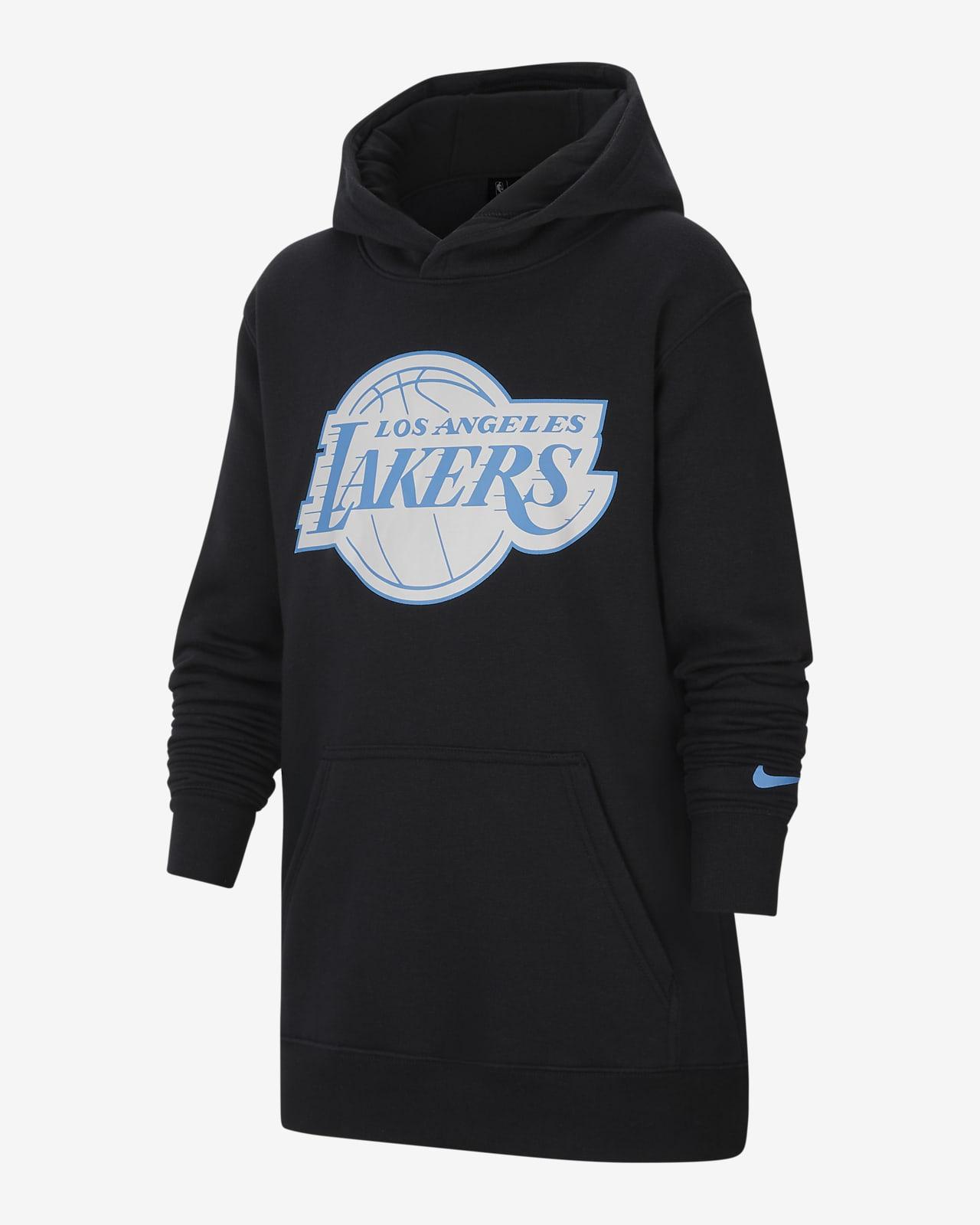 Los Angeles Lakers City Edition Nike NBA-s kapucnis polárpulóver nagyobb gyerekeknek