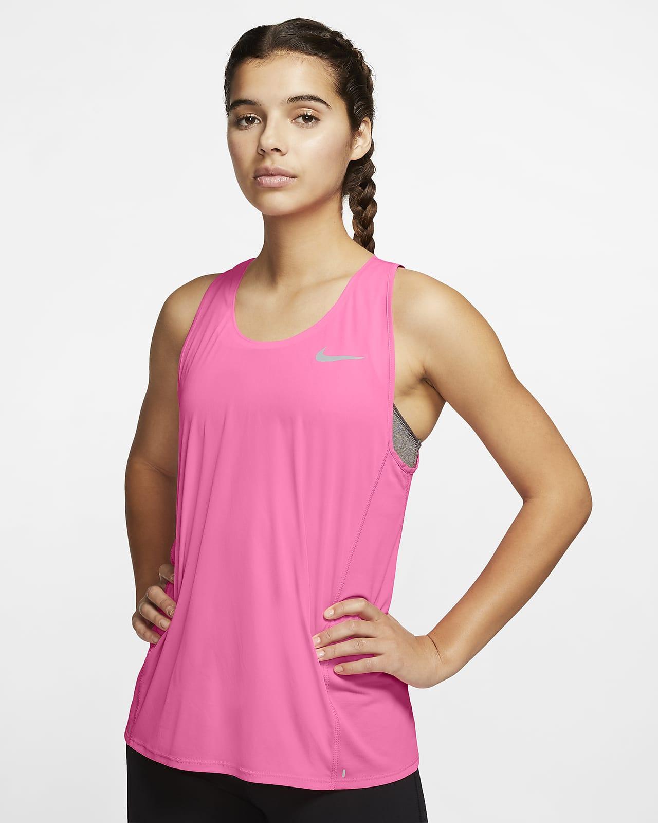 Camiseta de tirantes de running para mujer Nike