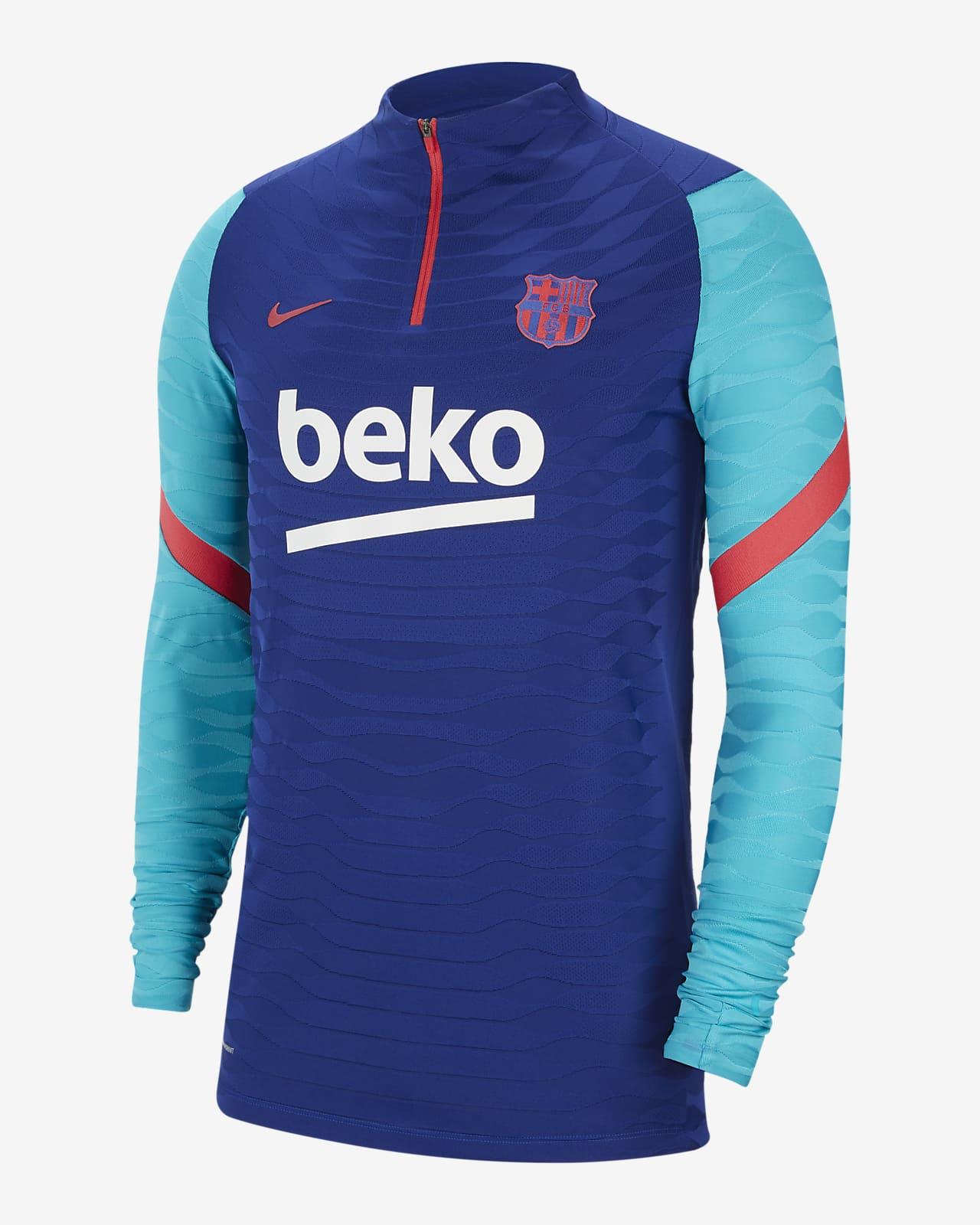 F.C. Barcelona VaporKnit Strike Men's 1/4-Zip Football Drill Top