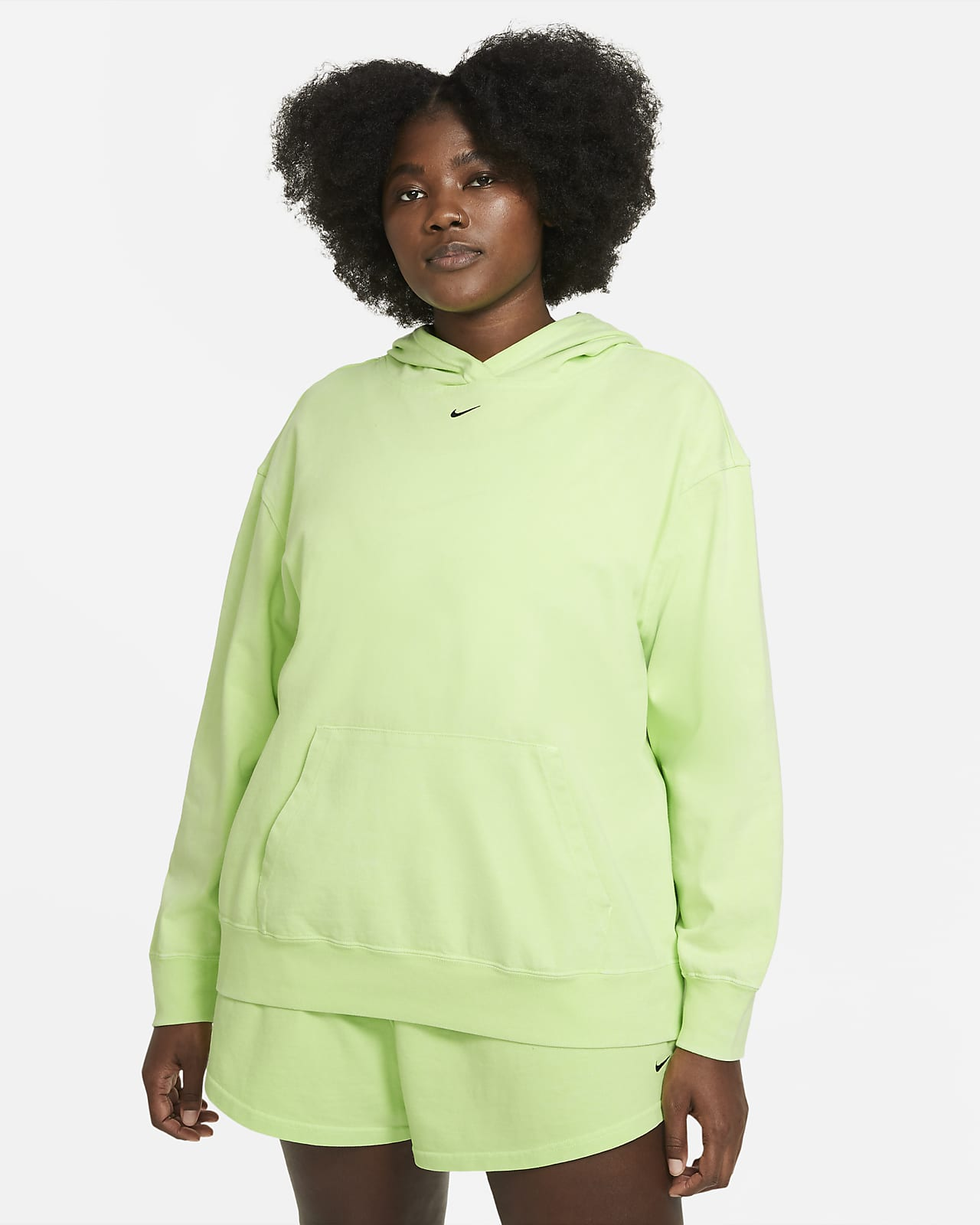 Sudadera con gorro lavada para mujer Nike Sportswear (talla grande)