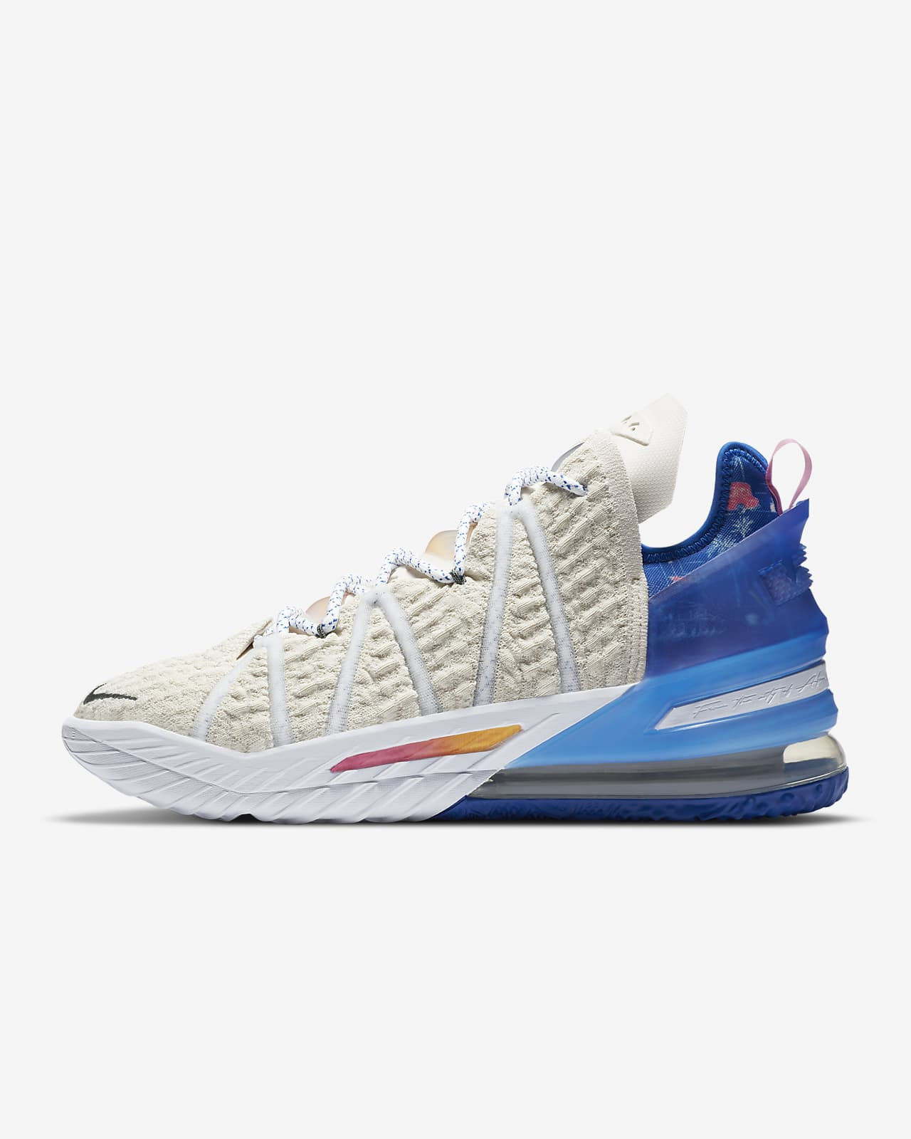"""LeBron 18 """"Los Angeles By Day"""" Basketball Shoe"""