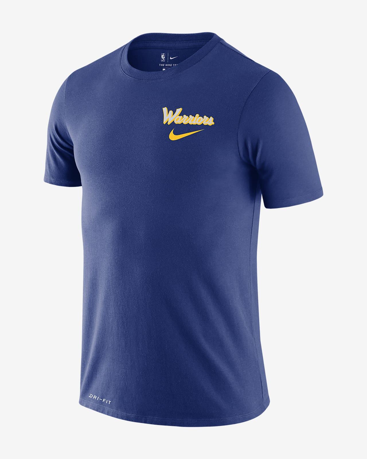 Warriors Wavy Wordmark Men's Nike Dri-FIT NBA T-Shirt