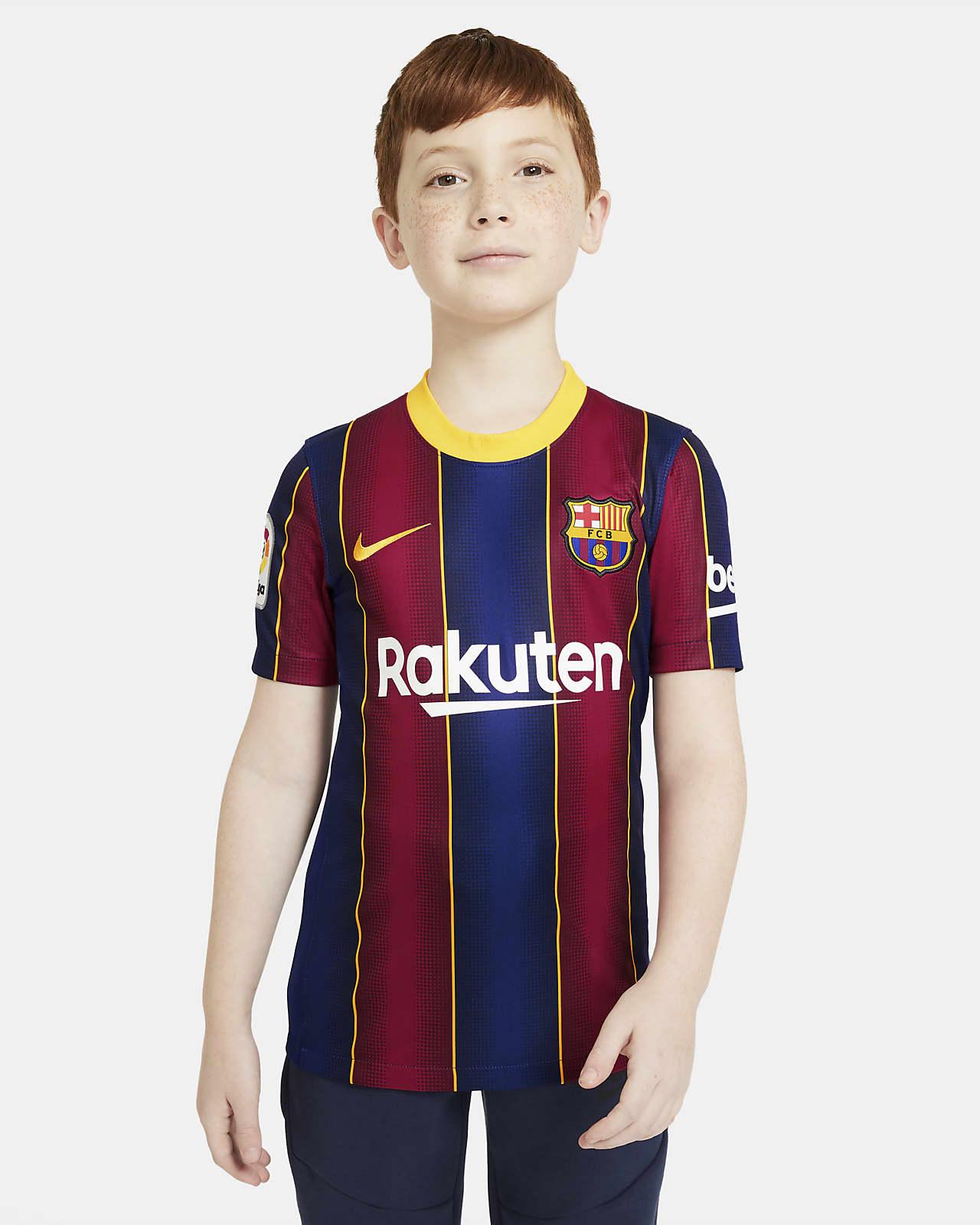 เสื้อแข่งฟุตบอลเด็กโต FC Barcelona 2020/21 Stadium Home