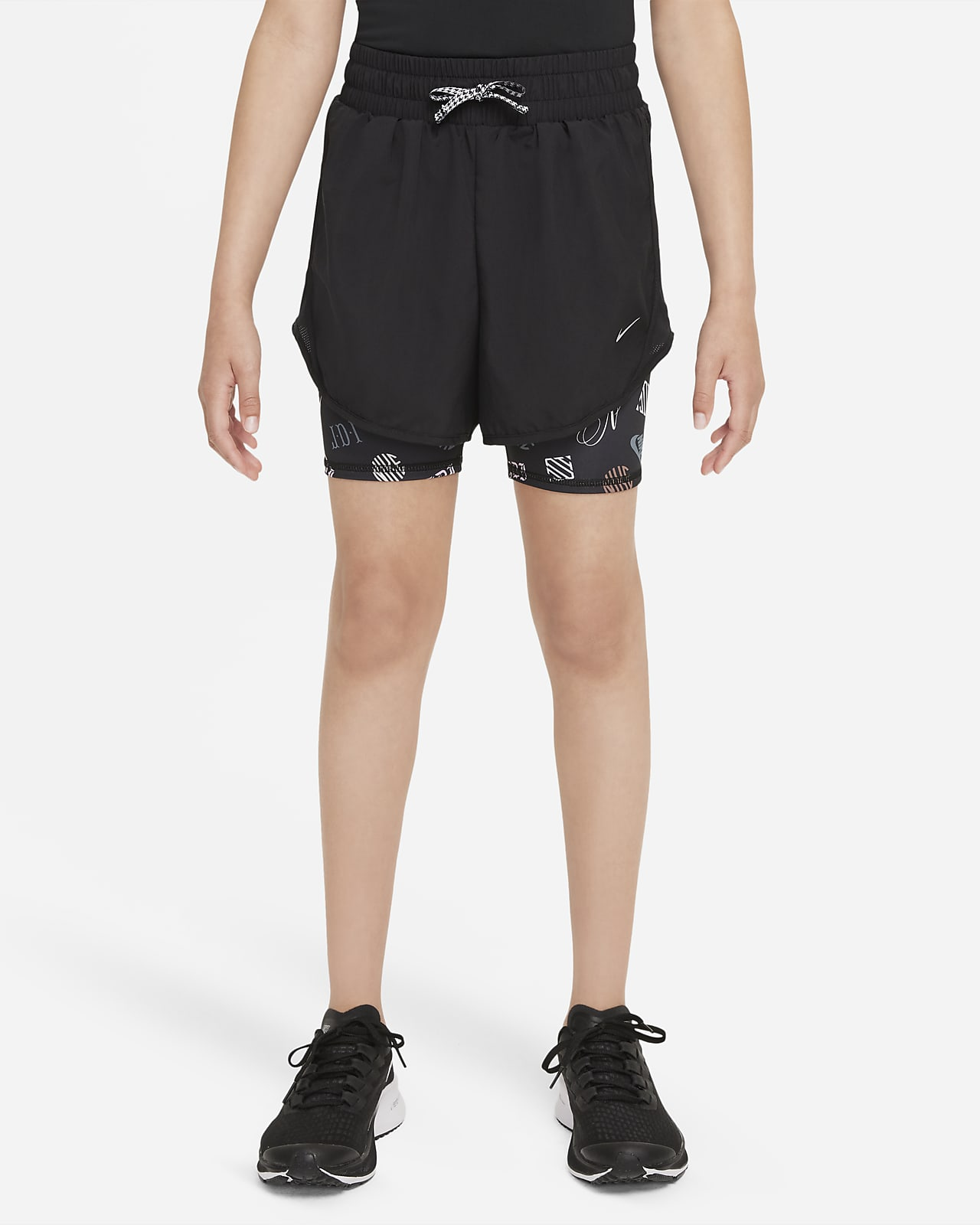 กางเกงวิ่งขาสั้นเด็กโต Nike Dri-FIT Tempo (หญิง)