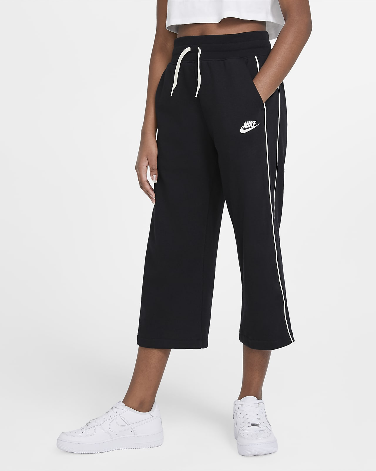 Брюки из ткани френч терри для девочек школьного возраста Nike Sportswear