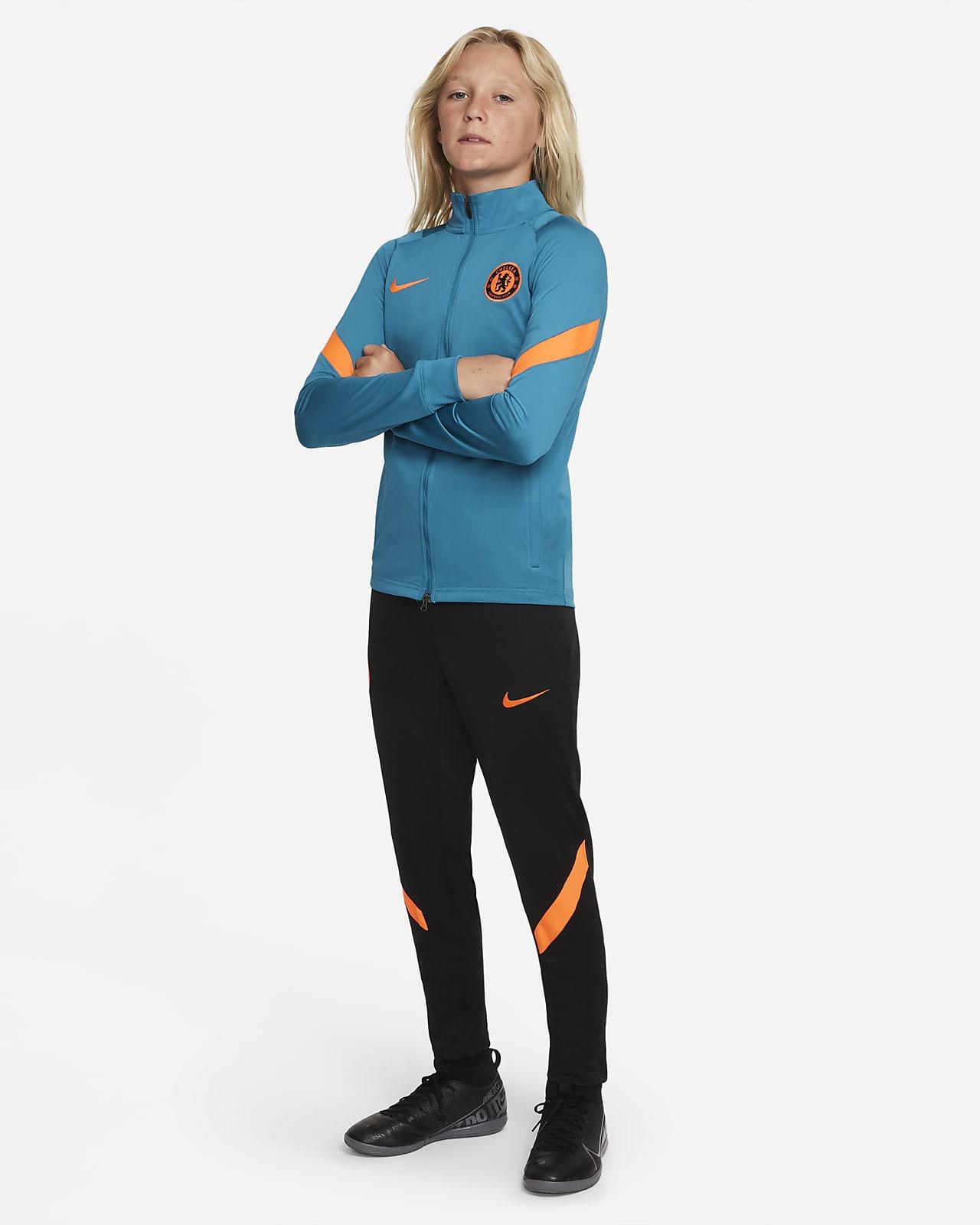 Chelsea F.C. Strike Older Kids' Nike Dri-FIT Knit Football Tracksuit