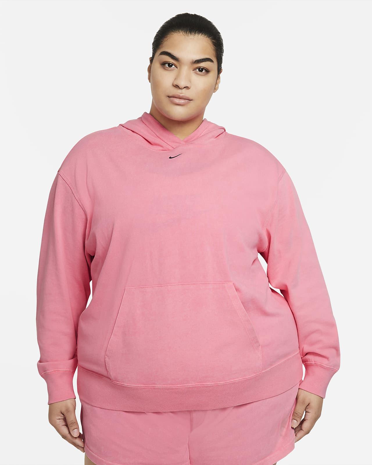 Nike Sportswear vasket hettegenser til dame (Plus size)