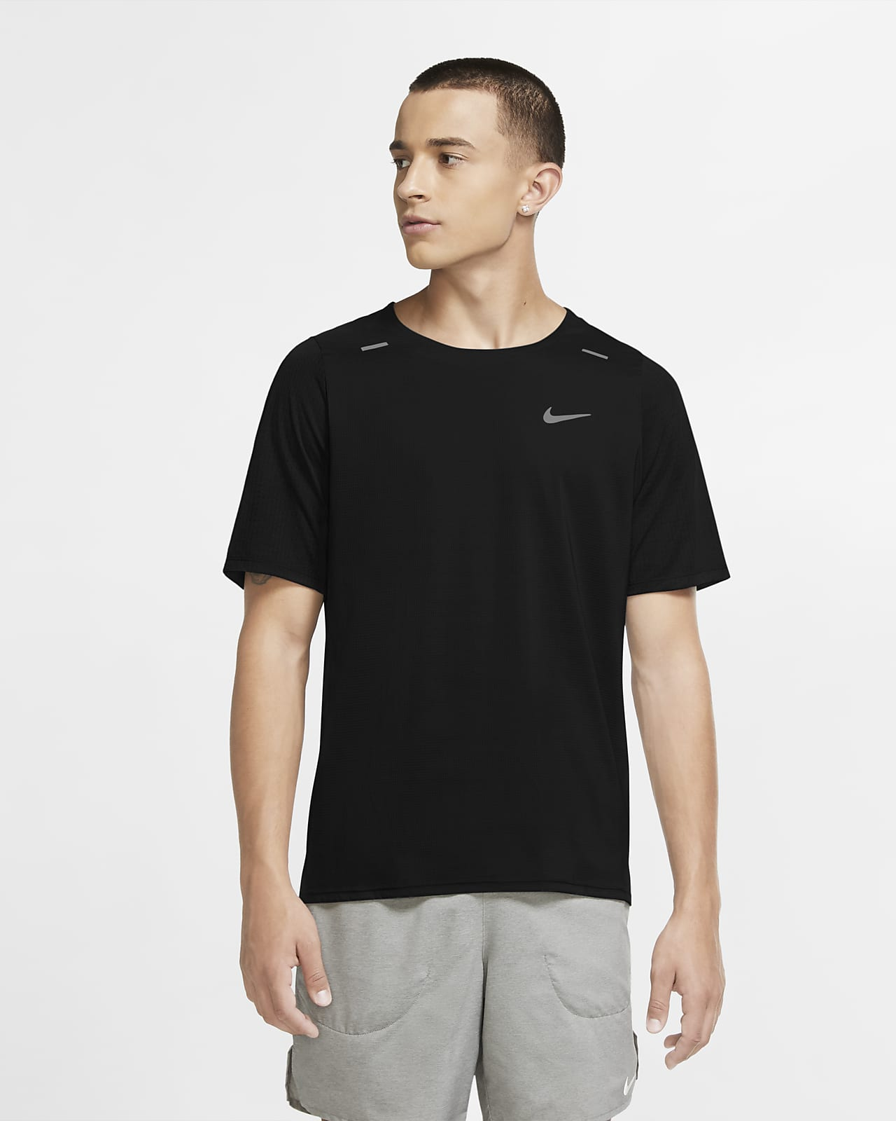 Haut de running hybride Nike Breathe Rise 365 pour Homme
