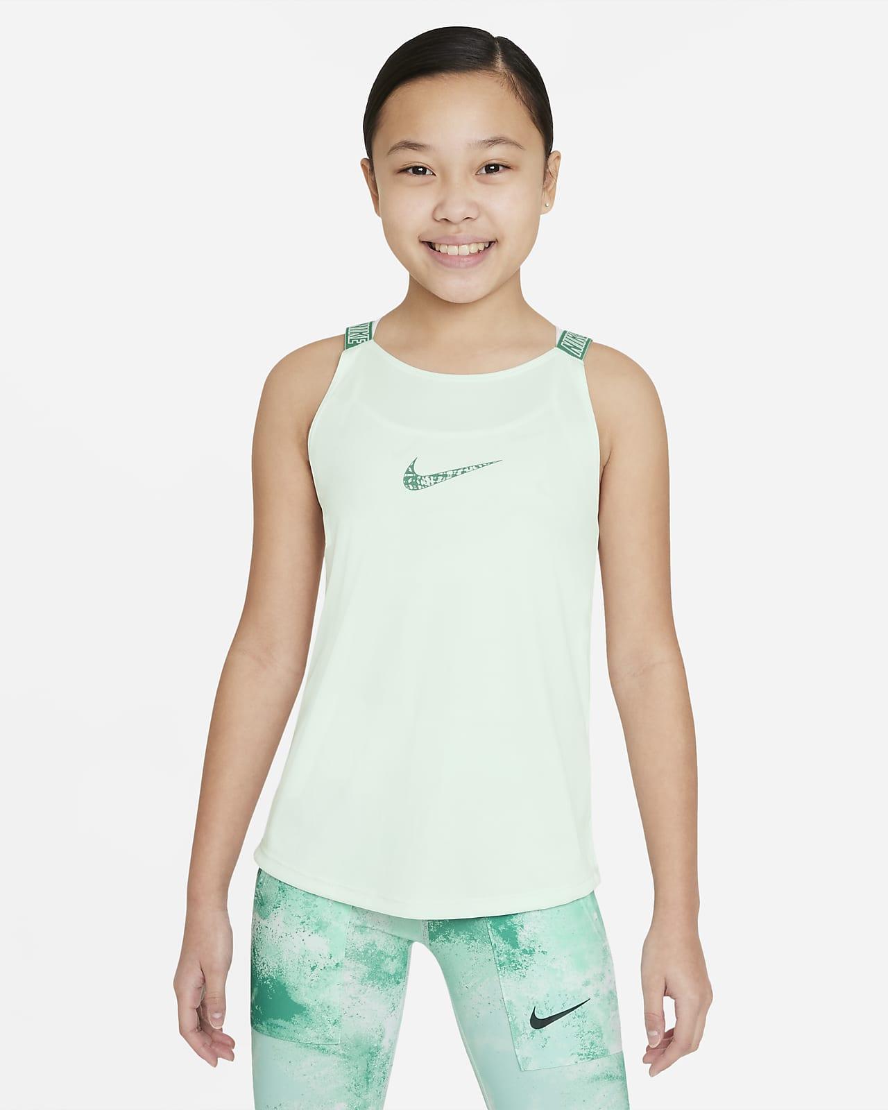 Nike Dri-FIT Elastika edzőtrikó nagyobb gyerekeknek (lányok)