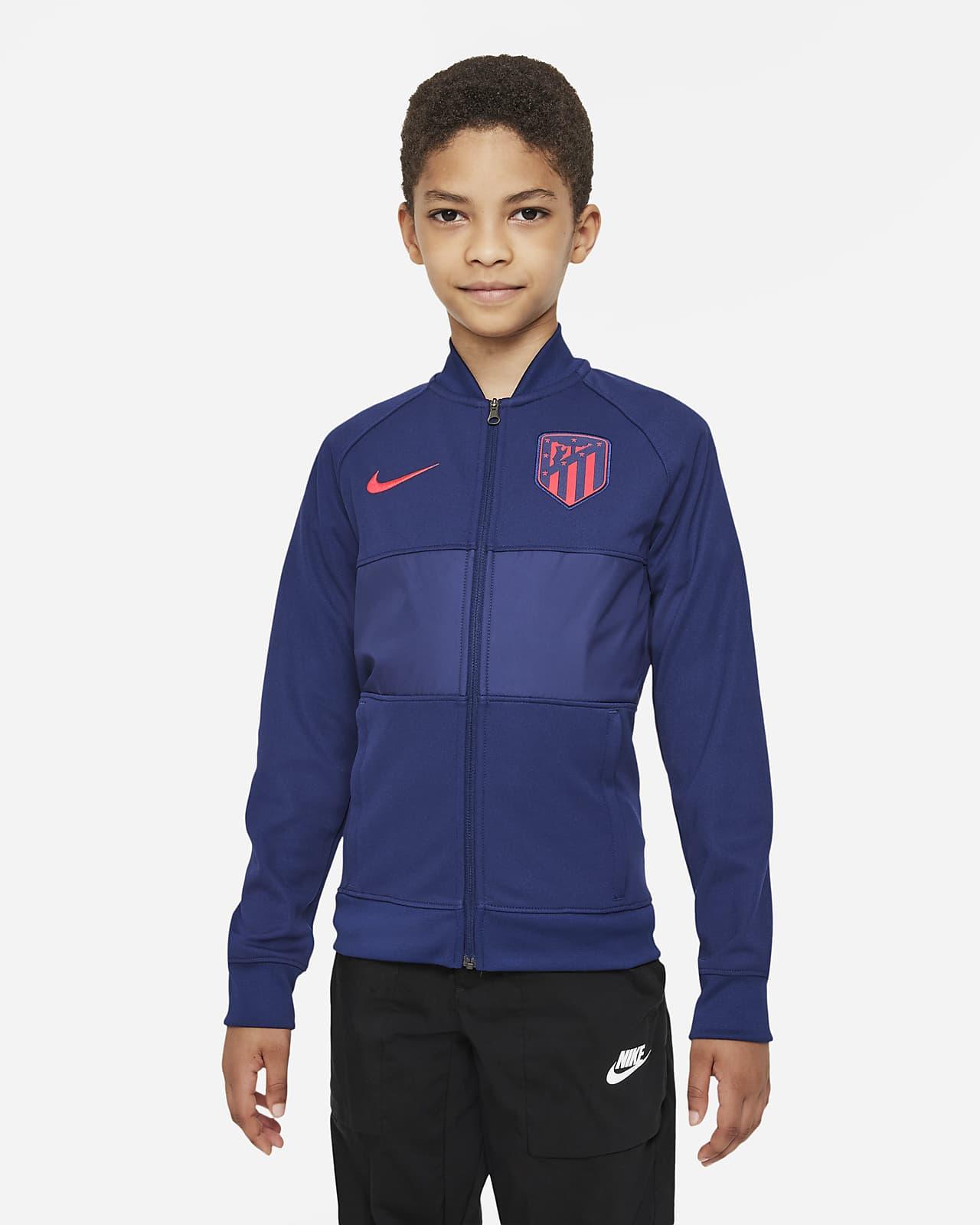 Atlético Madrid Fußball Track-Jacket mit durchgehendem Reißverschluss für ältere Kinder