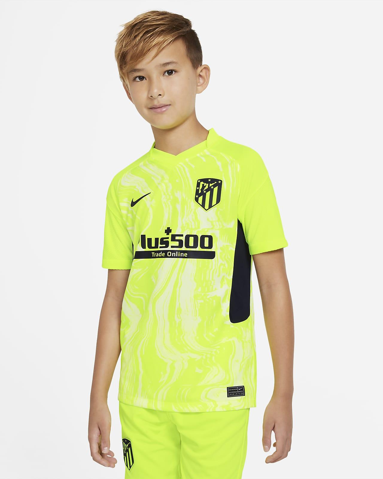 Atlético de Madrid 2020/2021 Stadium Third-fodboldtrøje til store børn