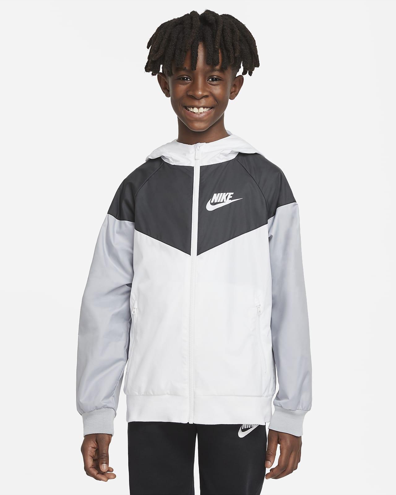 Chamarra para niño talla grande Nike Sportswear Windrunner
