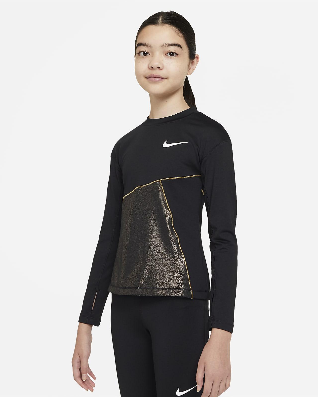 Camiseta de entrenamiento para niña talla grande Nike Pro Warm