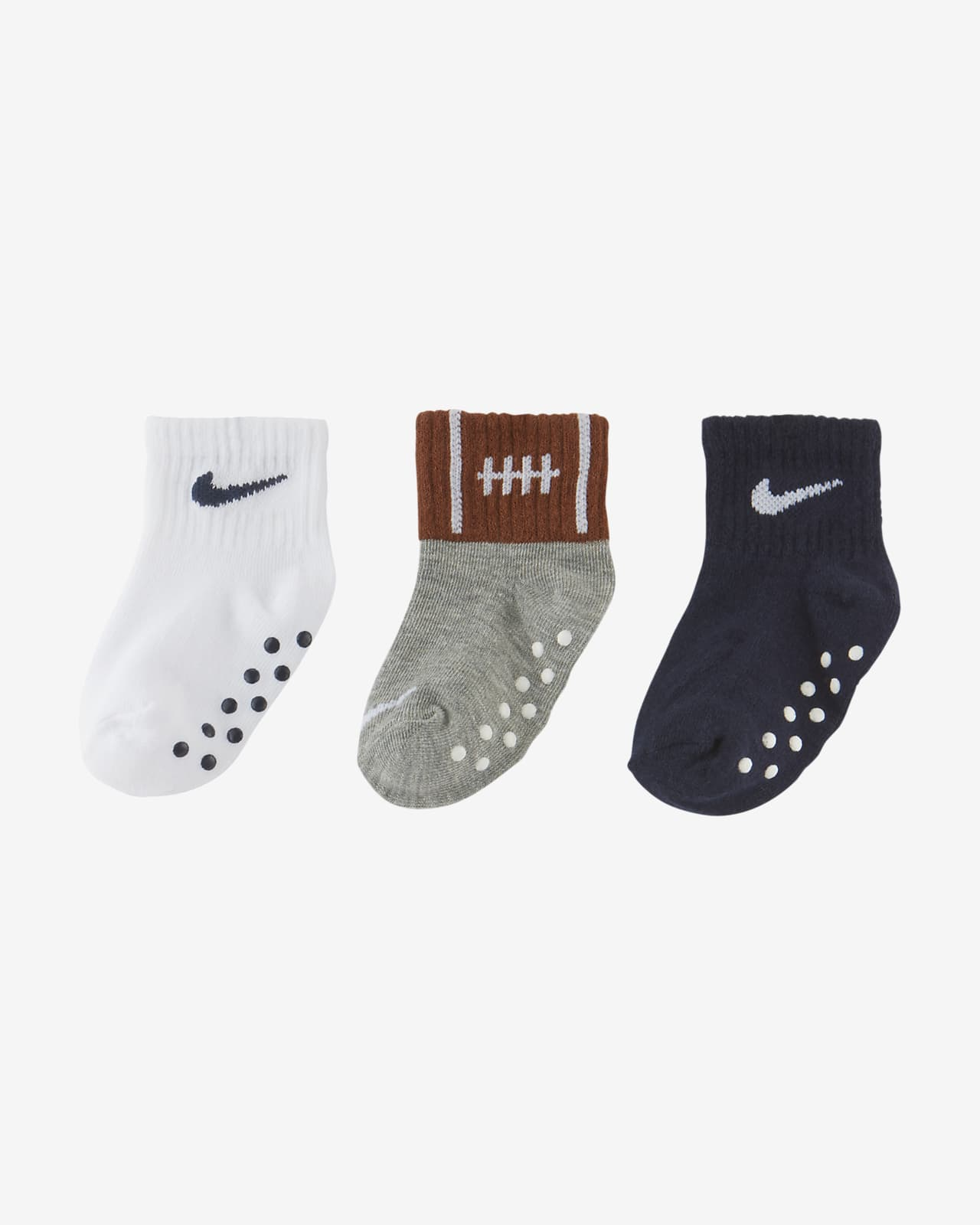 Nike Little Kids' Gripper Ankle Socks (3 Pairs)